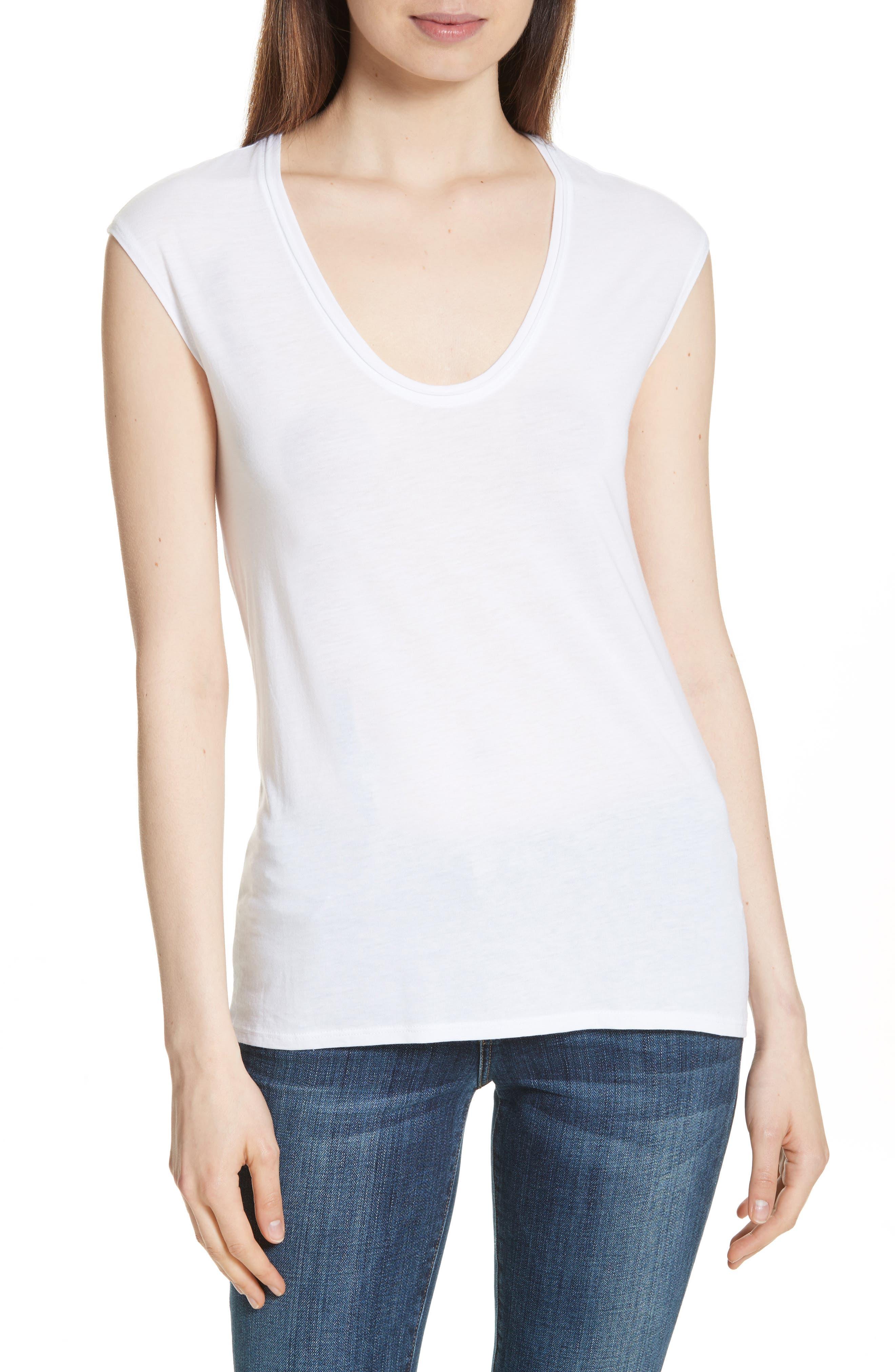 Madya Plume Jersey Tee,                         Main,                         color, White