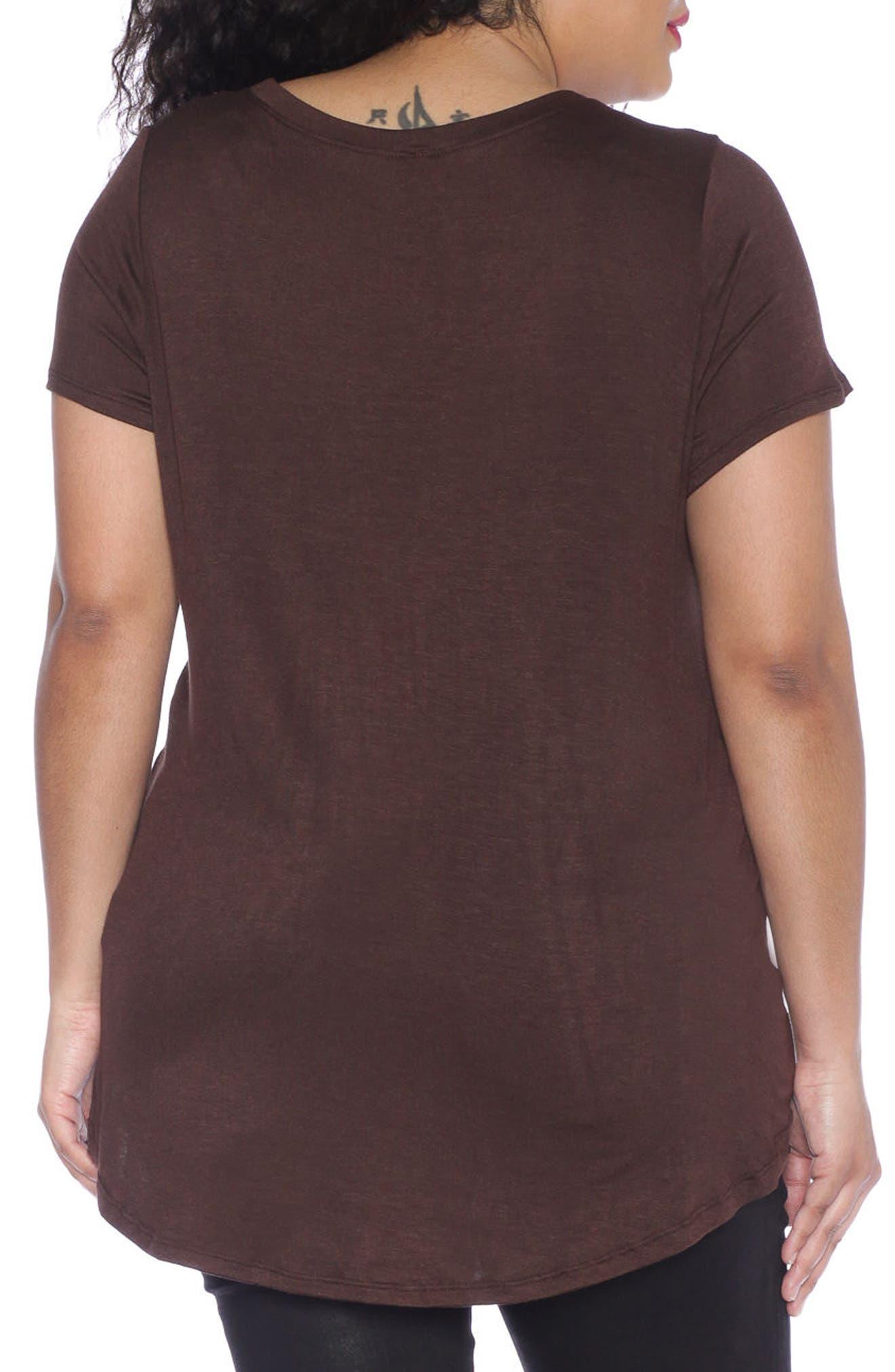 Alternate Image 2  - SLINK Jeans High/Low Scoop Neck Tee (Plus Size)