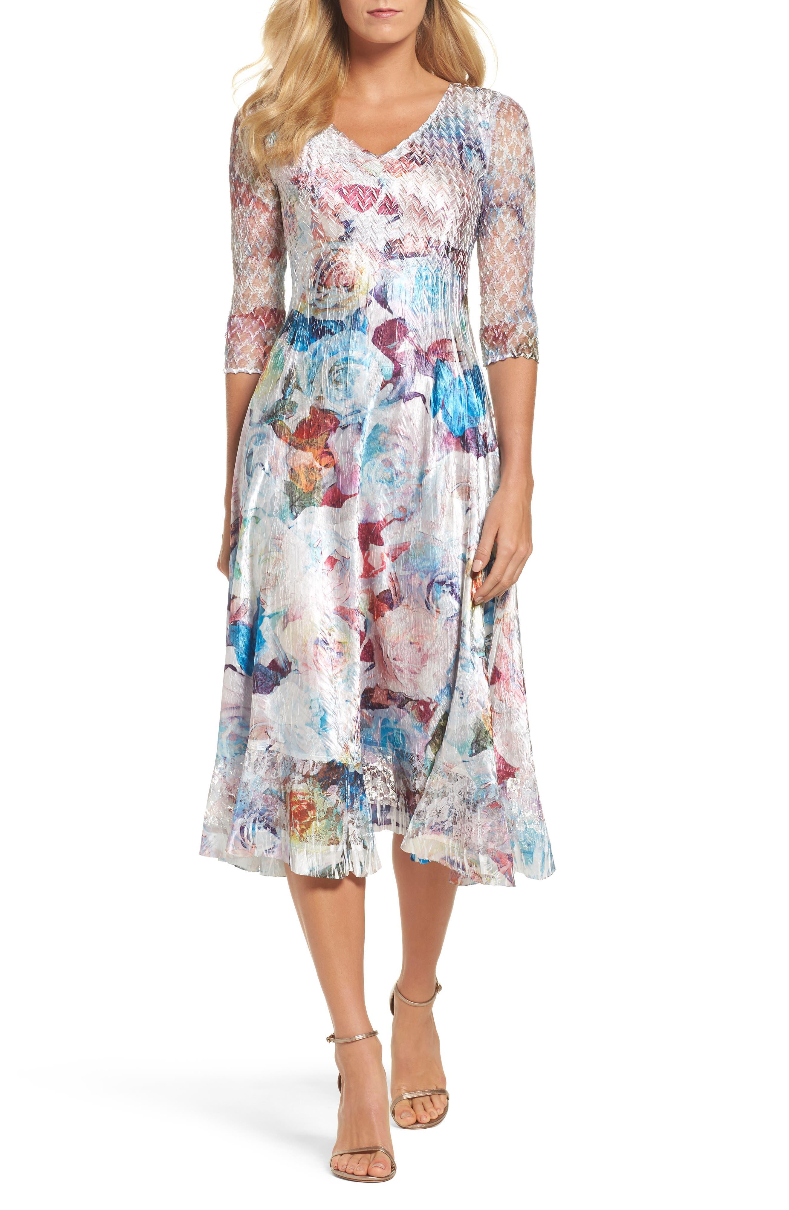 A-Line Dress,                         Main,                         color, Summer Eden
