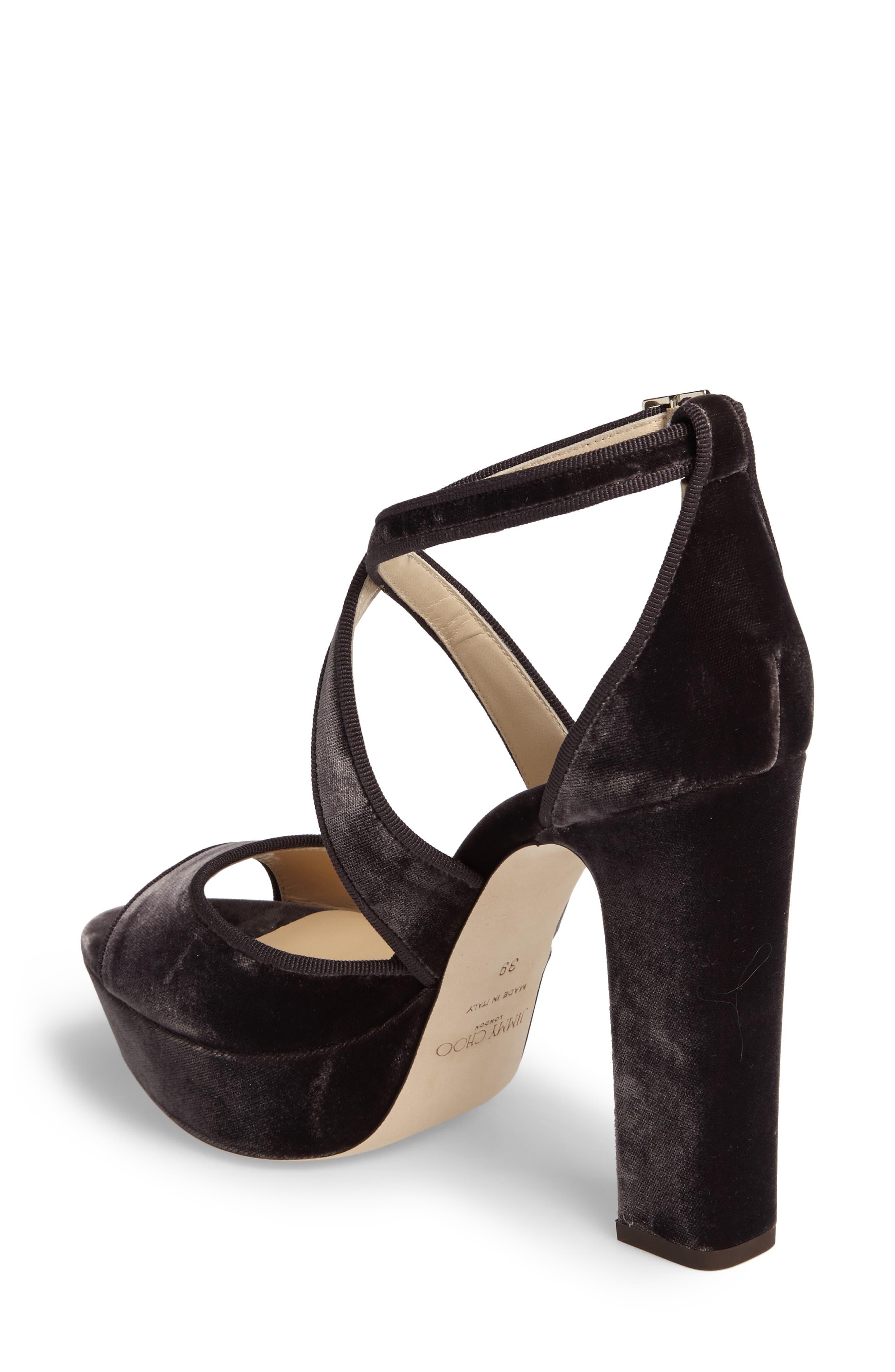 April Platform Sandal,                             Alternate thumbnail 2, color,                             Dark Mink Velvet