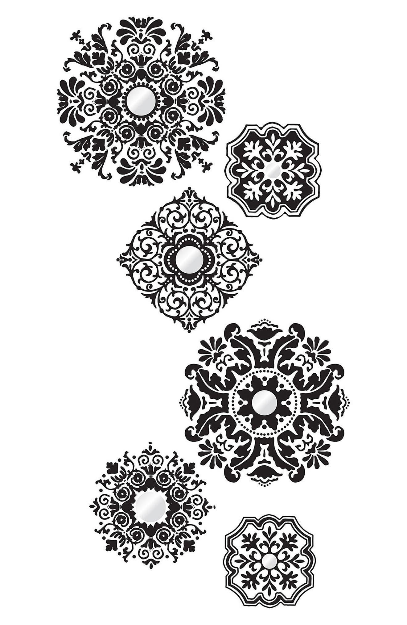Baroque 6-Piece Wall Art Decal Set,                         Main,                         color, Black