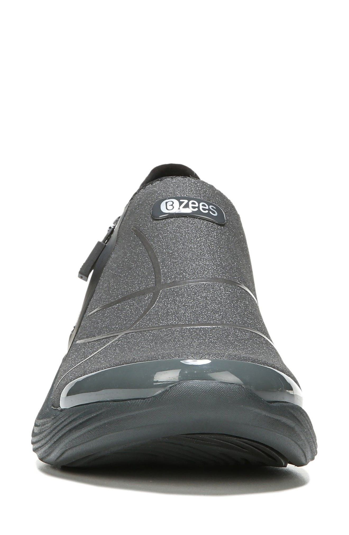 Trilogy Slip-On Sneaker,                             Alternate thumbnail 4, color,                             Grey Fabric