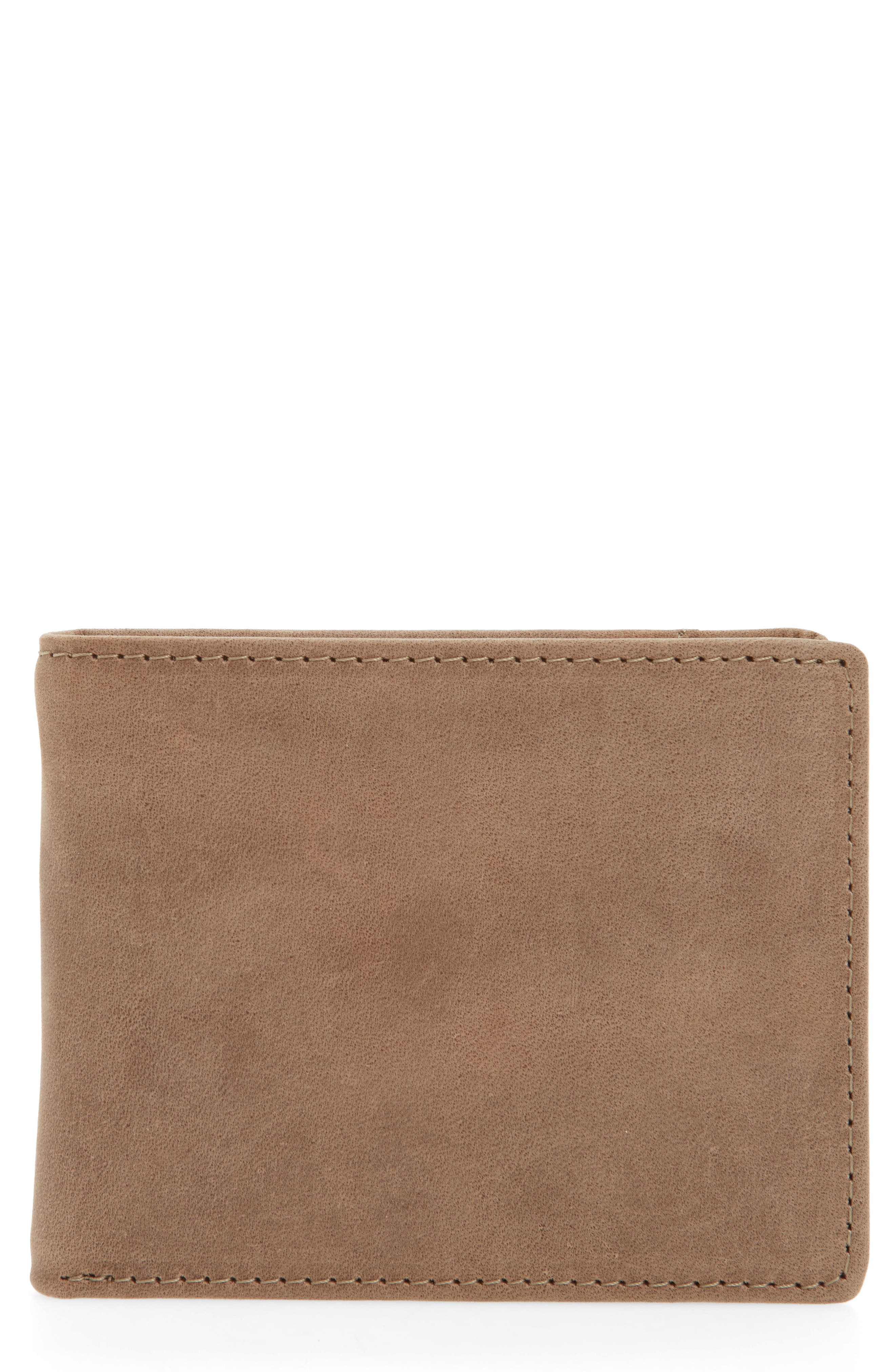 Upton Leather Wallet,                         Main,                         color, Brown Earth