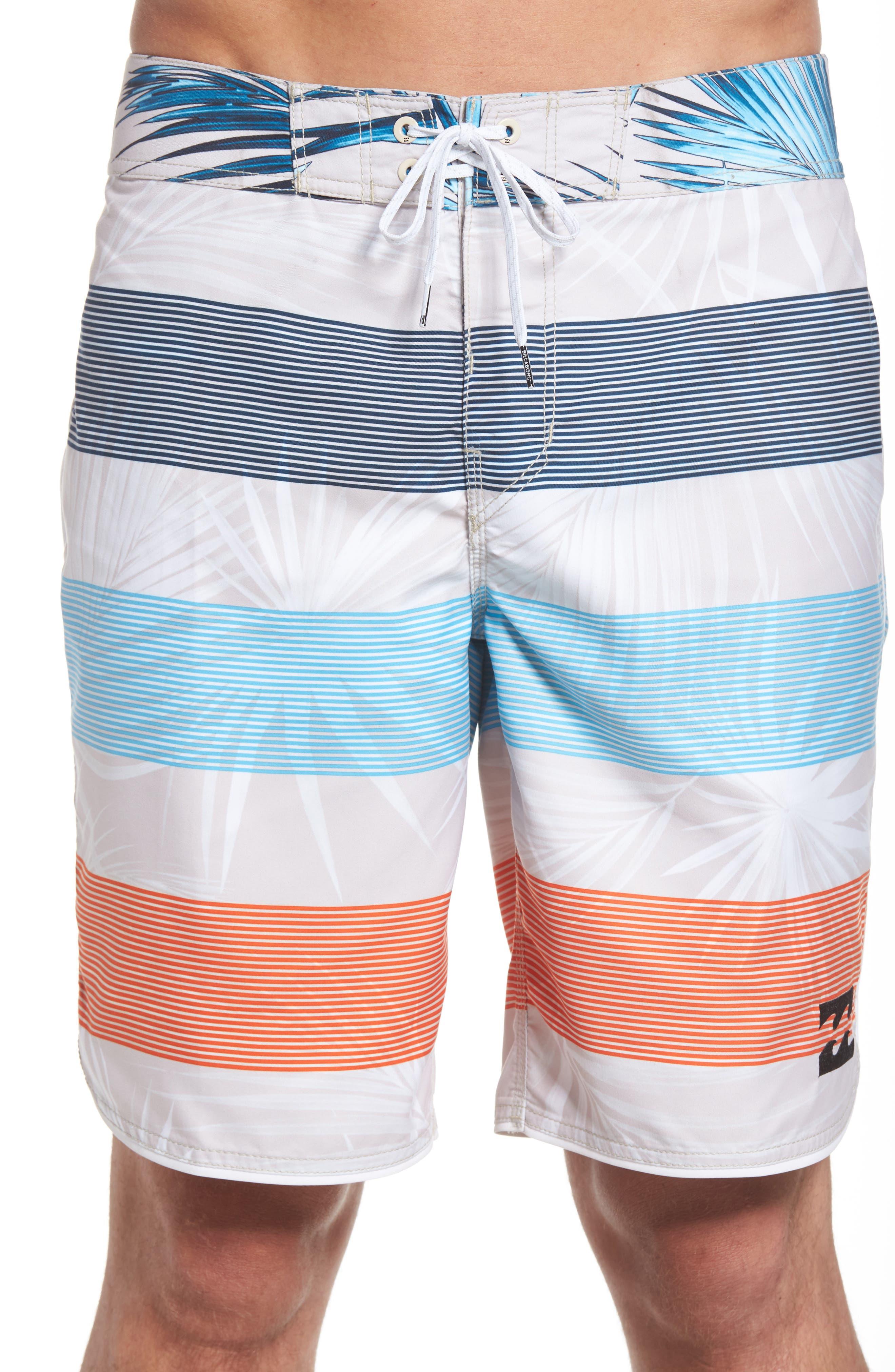 73 OG Stripe Board Shorts,                             Alternate thumbnail 4, color,                             Stone