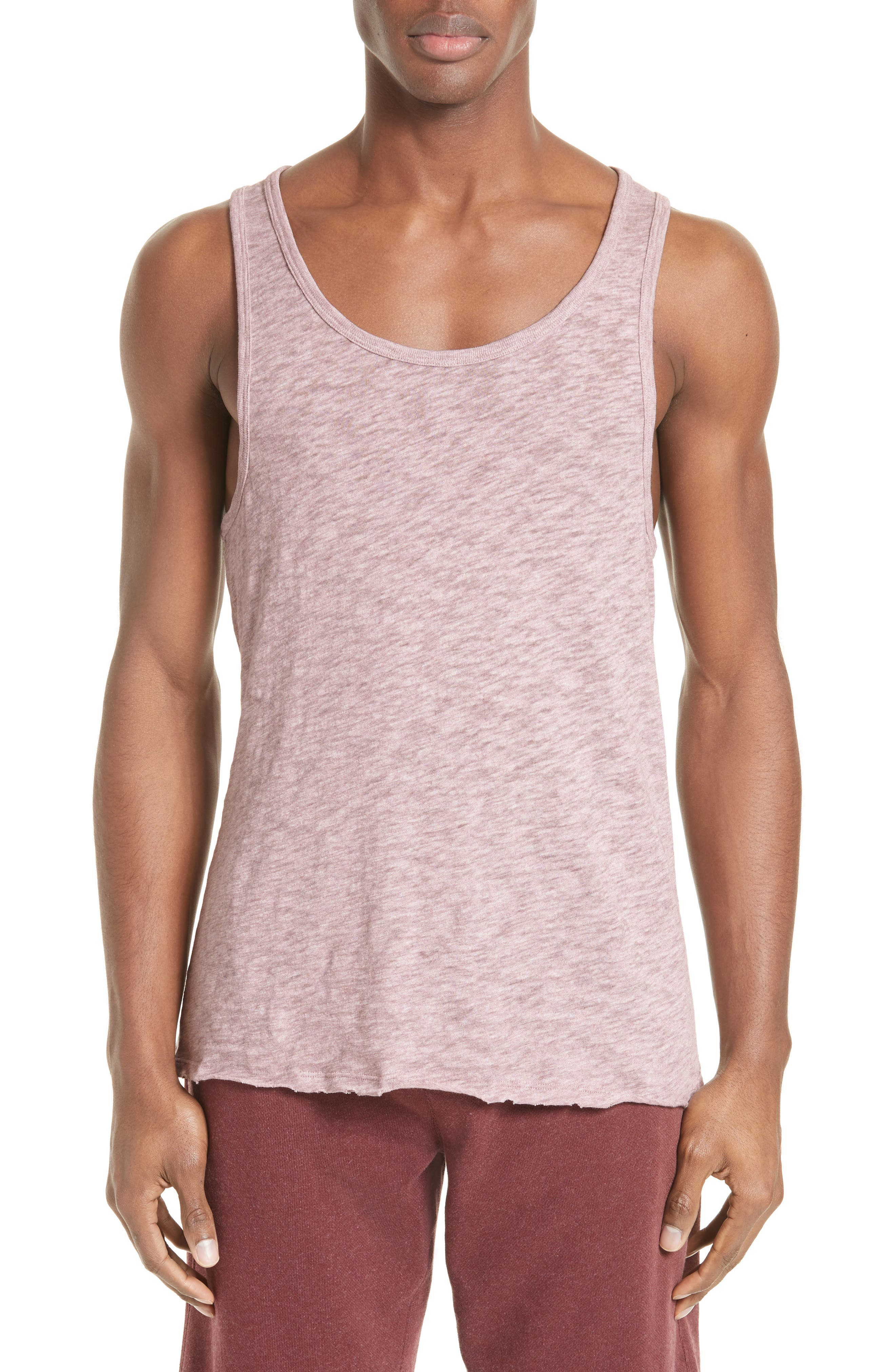 Slub Jersey Tank,                         Main,                         color, Purplestone