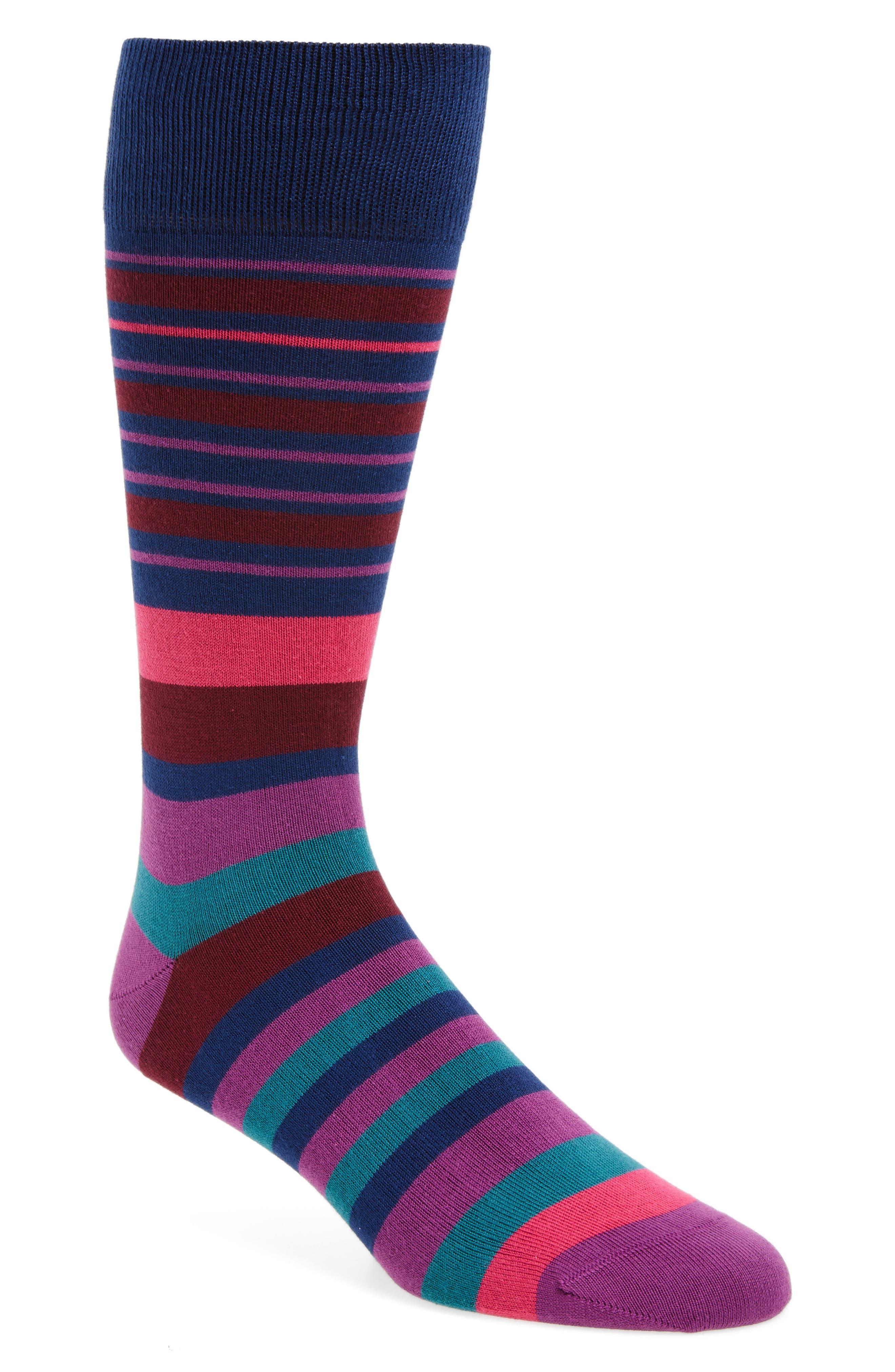 Alternate Image 1 Selected - Paul Smith Fern Stripe Socks
