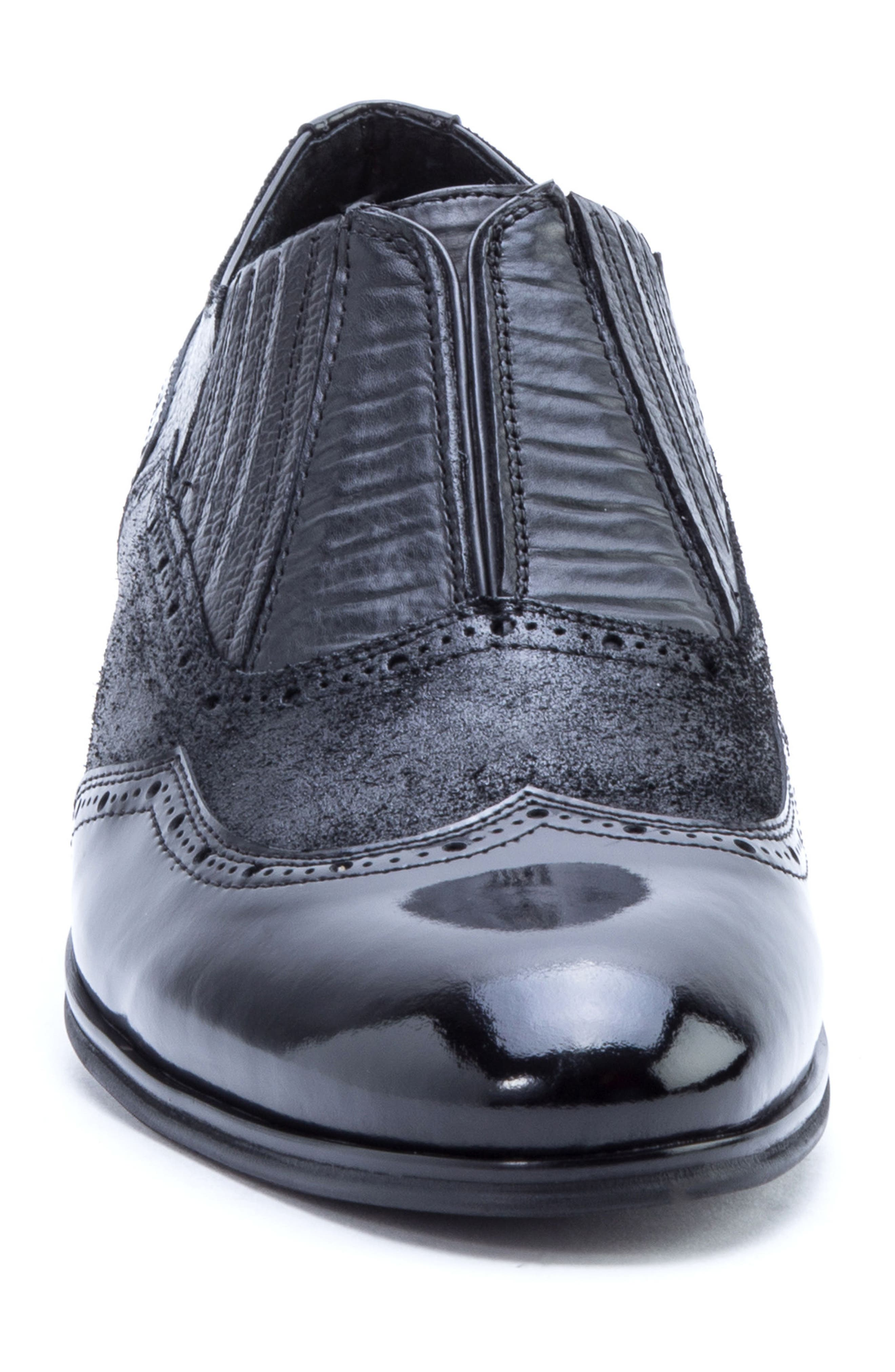 Warwick Wingtip,                             Alternate thumbnail 4, color,                             Black Leather