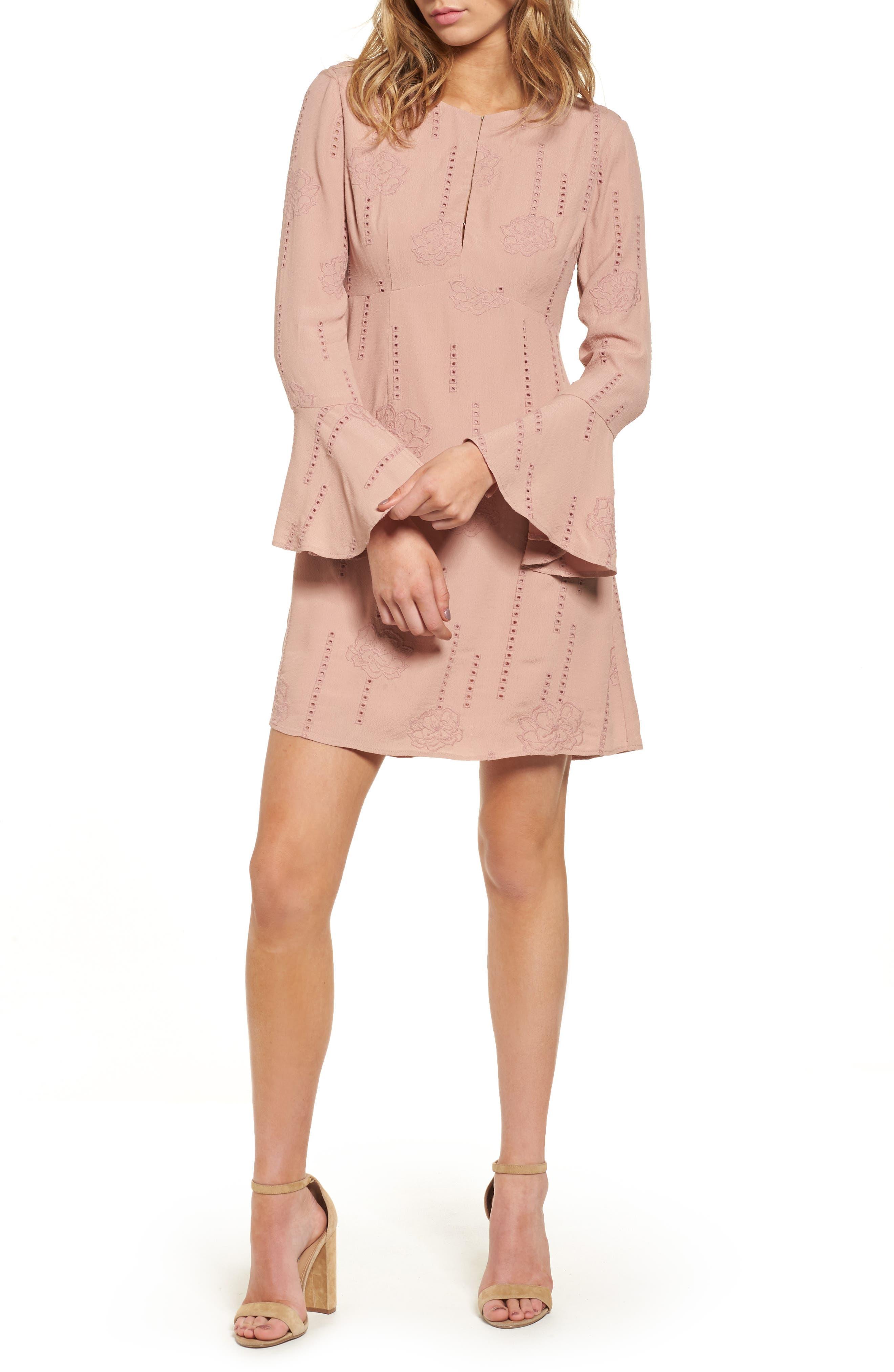 ASTR the Label Isadora Bell Sleeve Dress