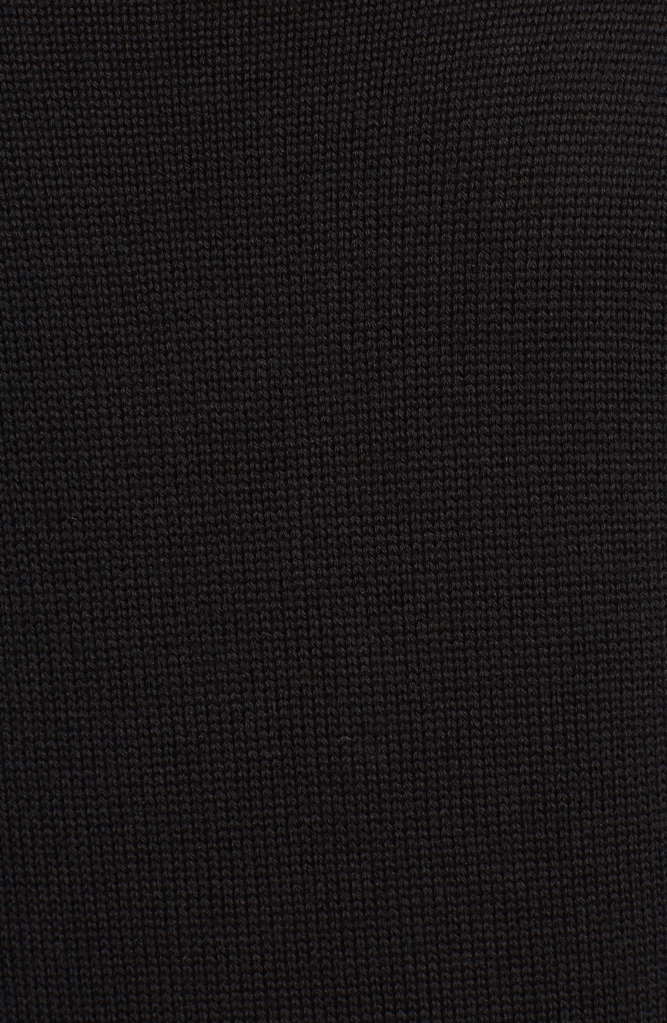 Argyle Heart Sweater,                             Alternate thumbnail 6, color,                             Black