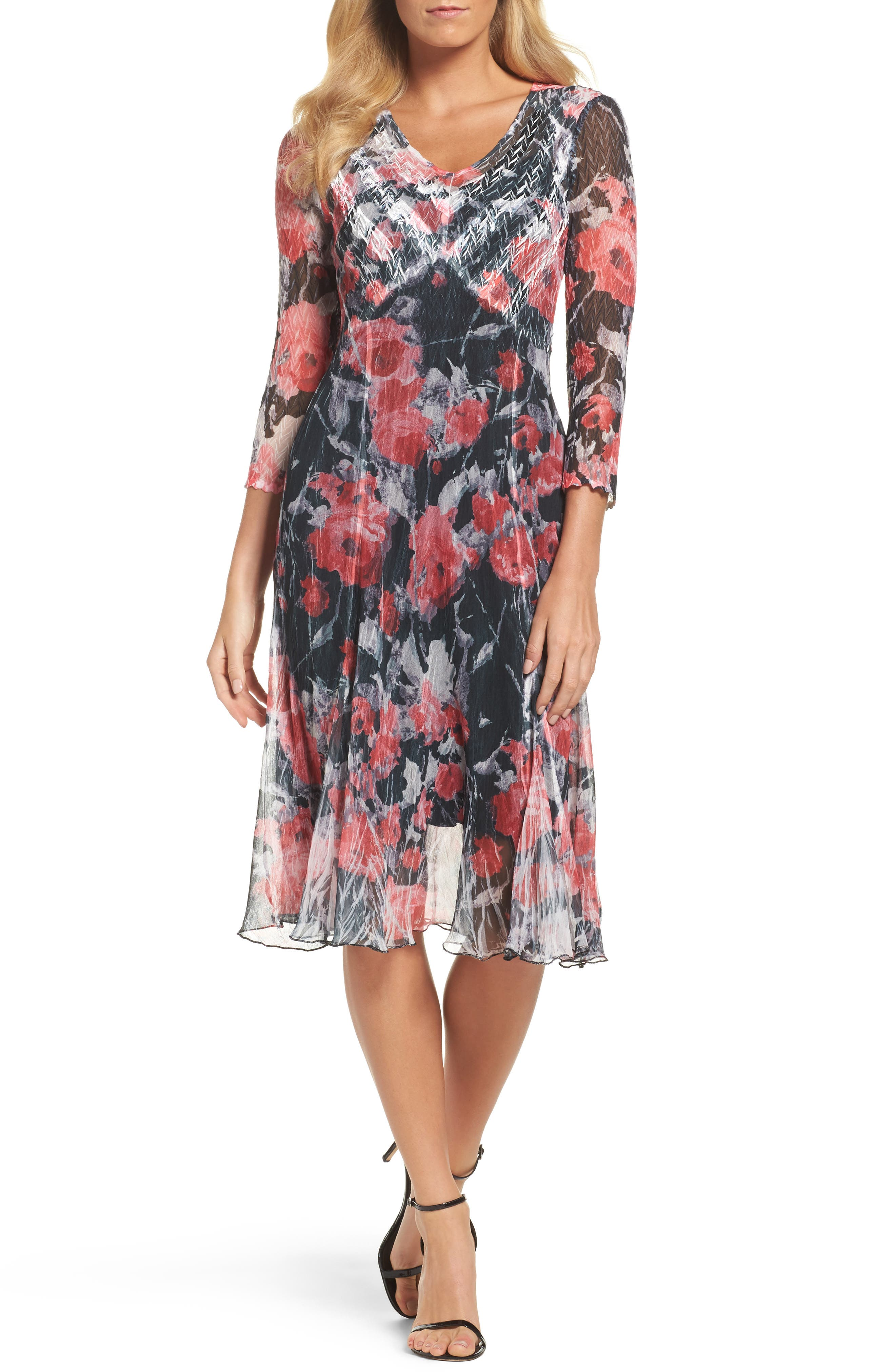 A-Line Dress,                             Main thumbnail 1, color,                             Strawberry Fields