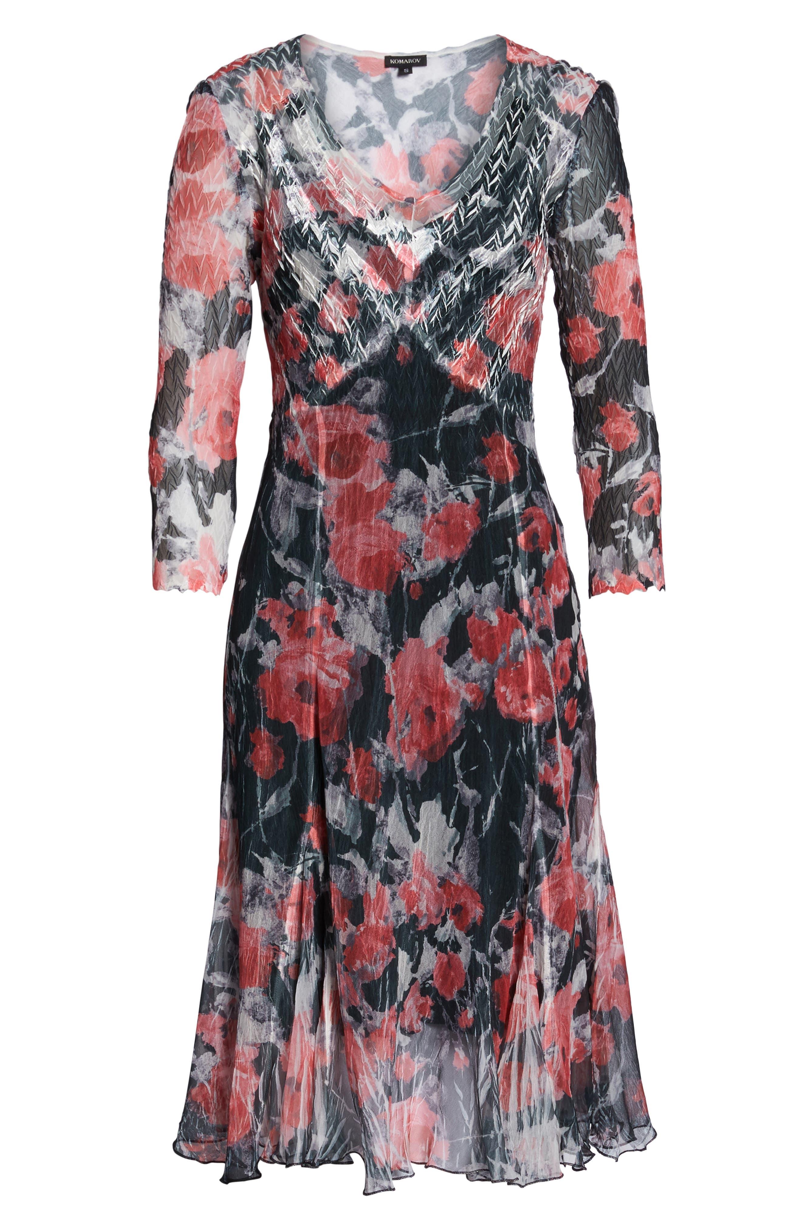 A-Line Dress,                             Alternate thumbnail 6, color,                             Strawberry Fields
