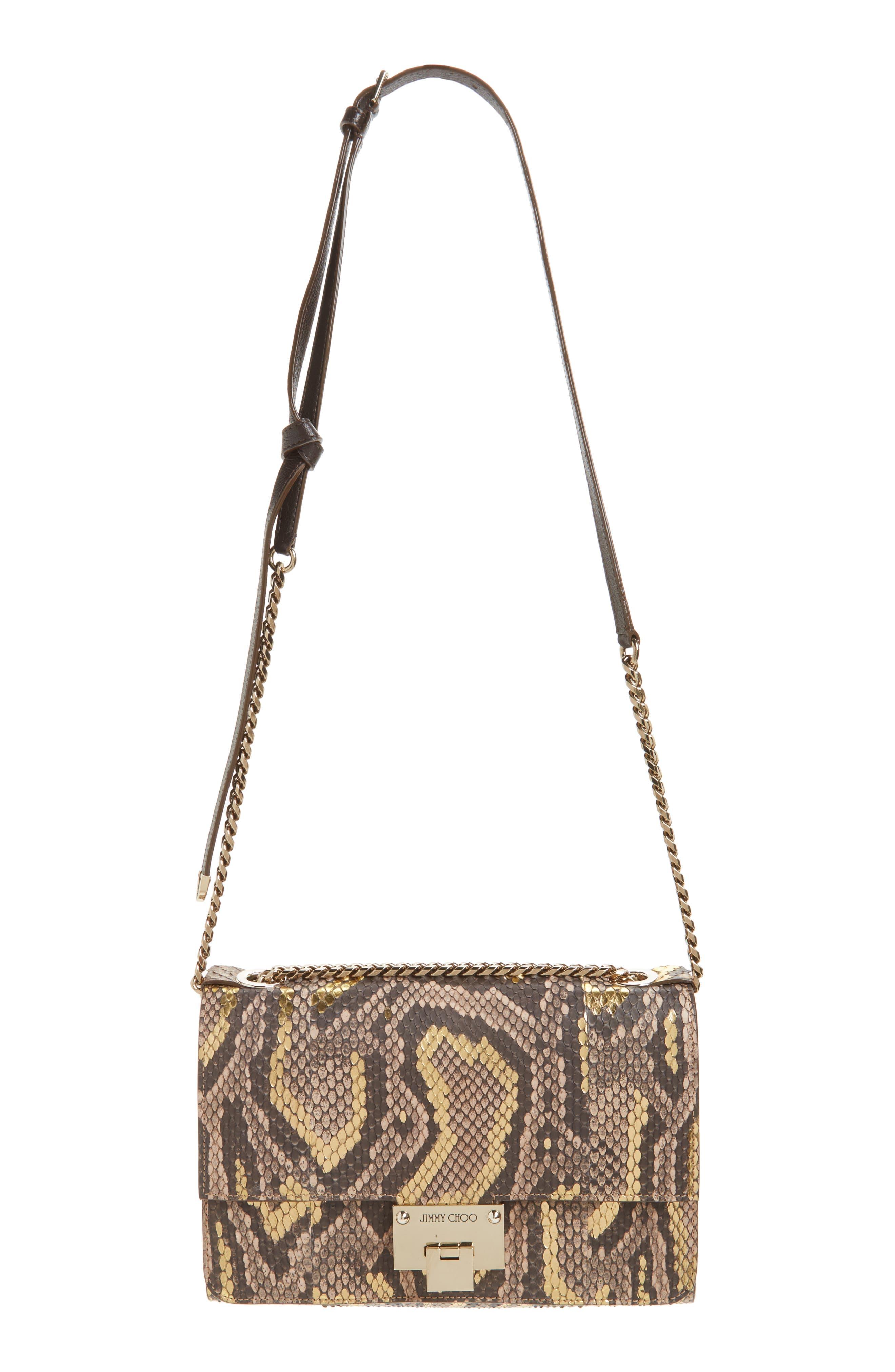Alternate Image 1 Selected - Jimmy Choo Rebel Genuine Python Crossbody Bag
