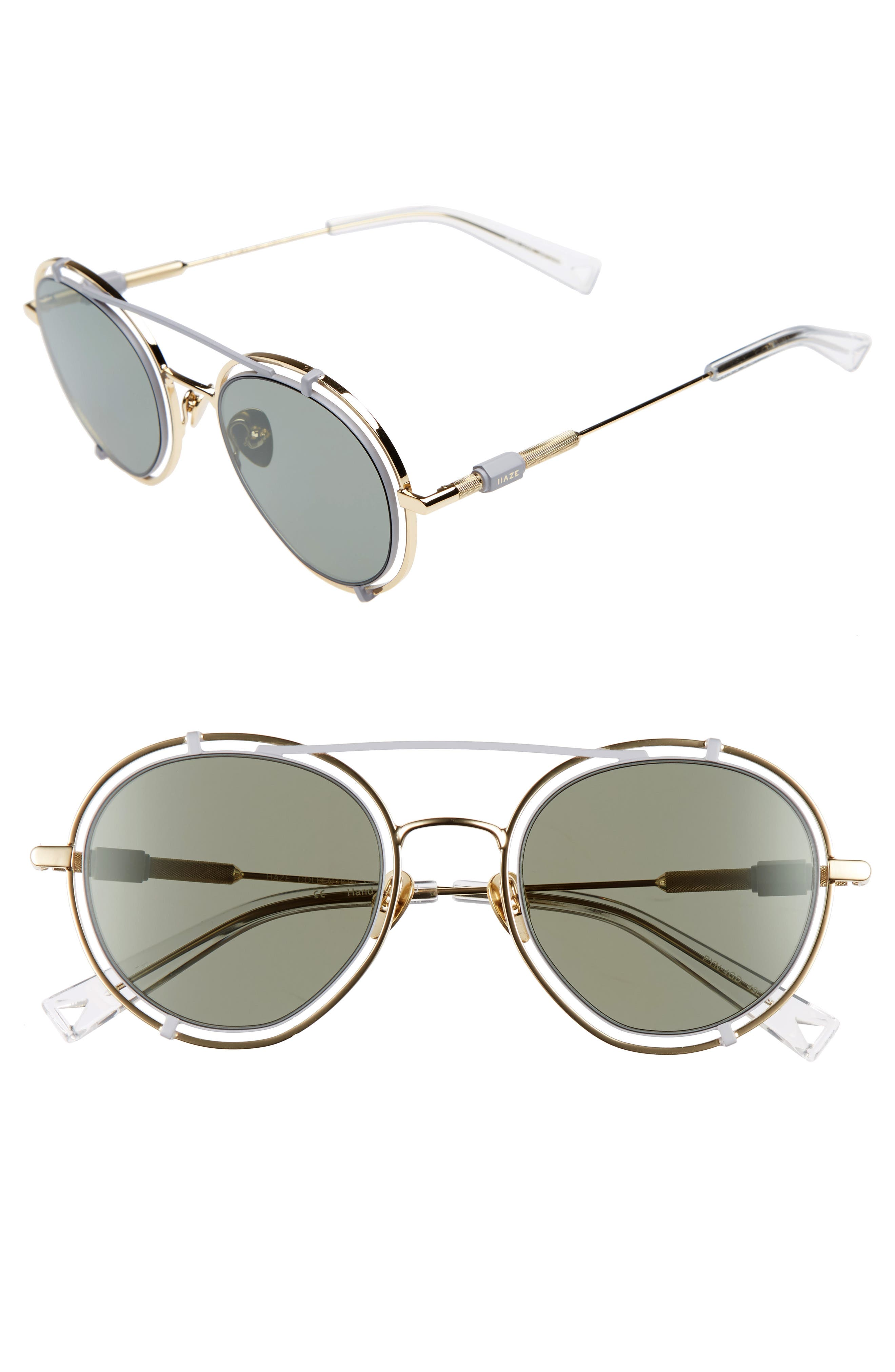 Pyn 55mm Mirrored Sunglasses,                             Main thumbnail 1, color,                             Golden