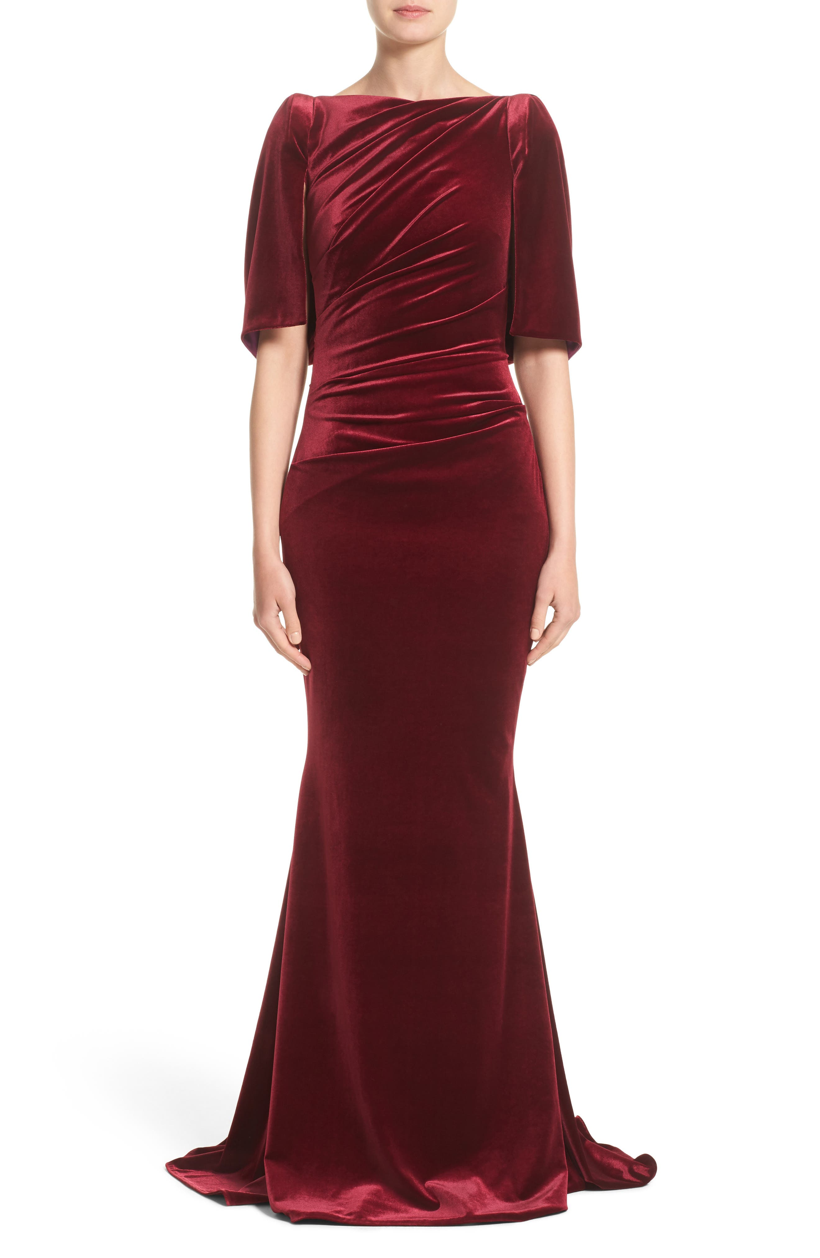 Talbot Runhof Velvet Mermaid Gown