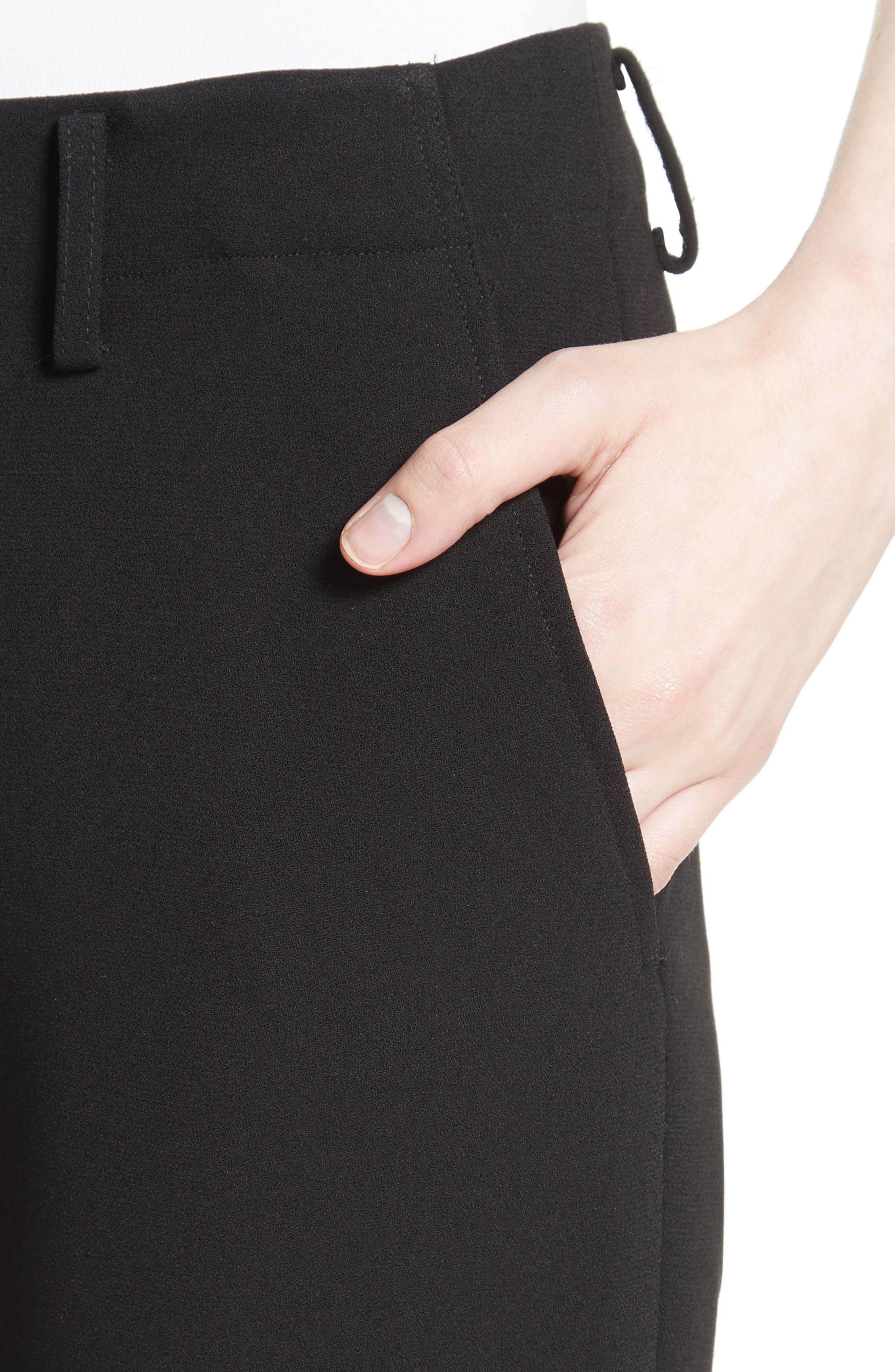 Crop Cigarette Pants,                             Alternate thumbnail 6, color,                             Black
