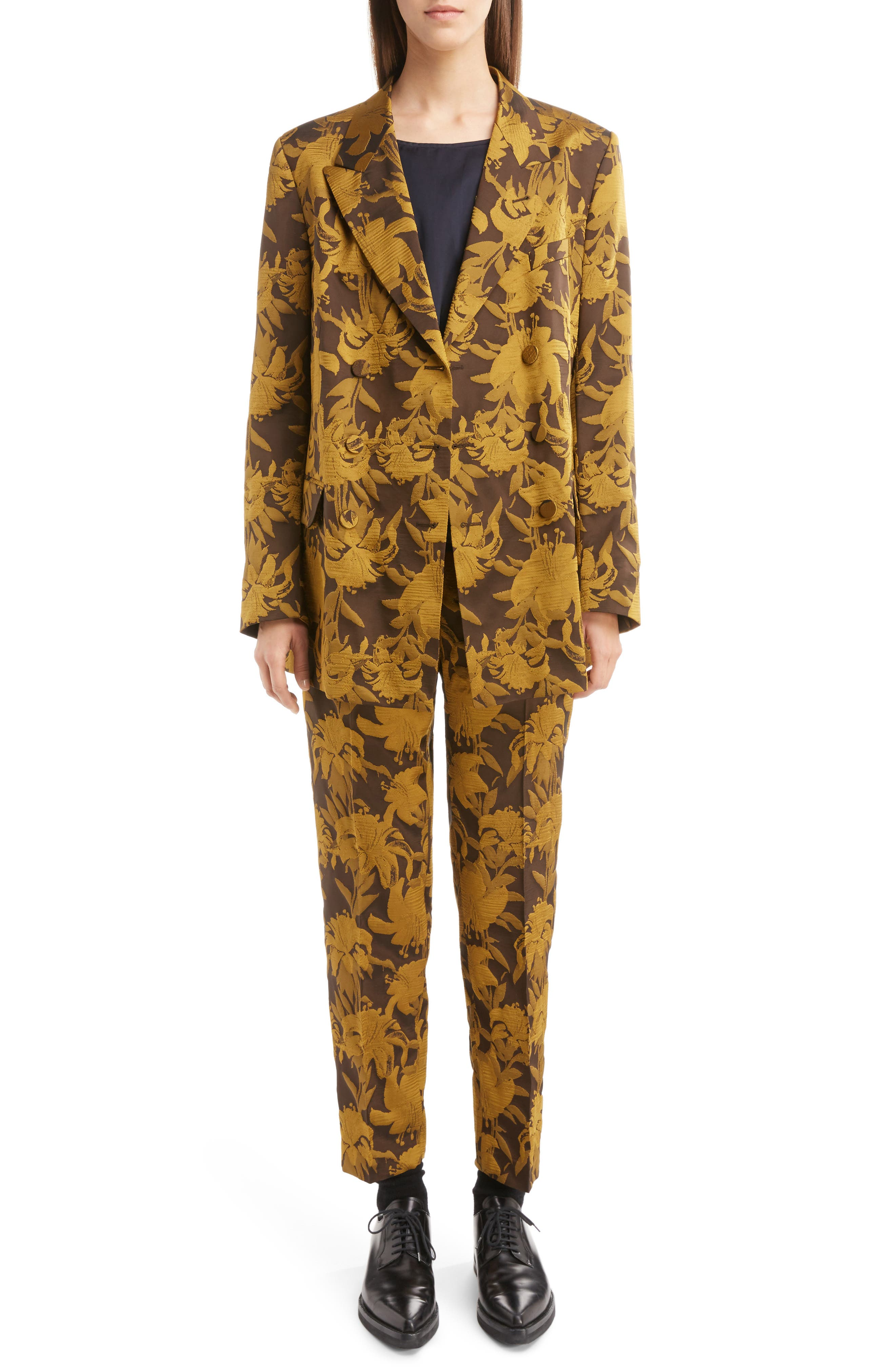 Alternate Image 6  - Dries Van Noten Damask Double Breasted Jacket
