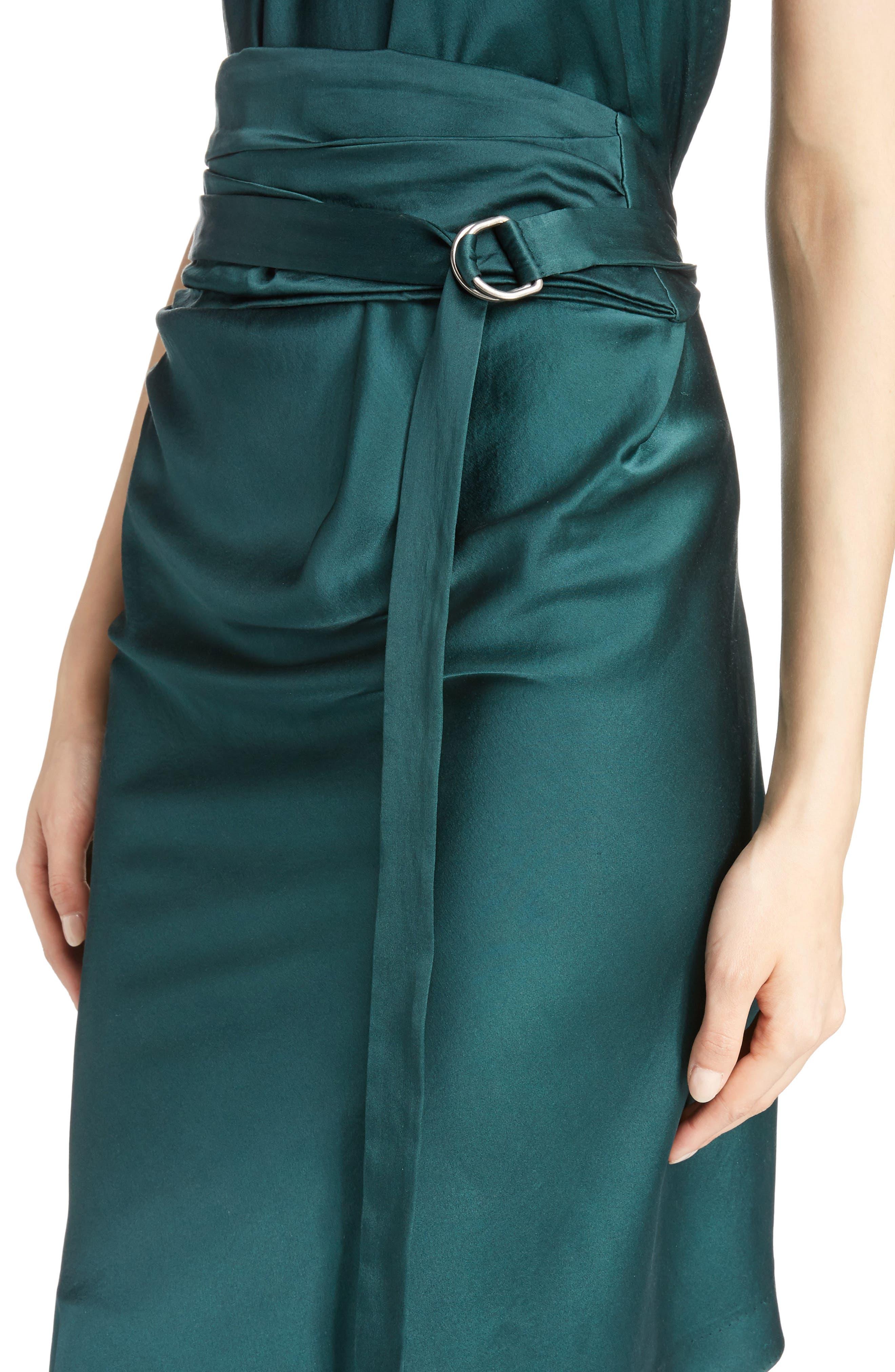 Alternate Image 4  - Saint Laurent Satin Halter Dress