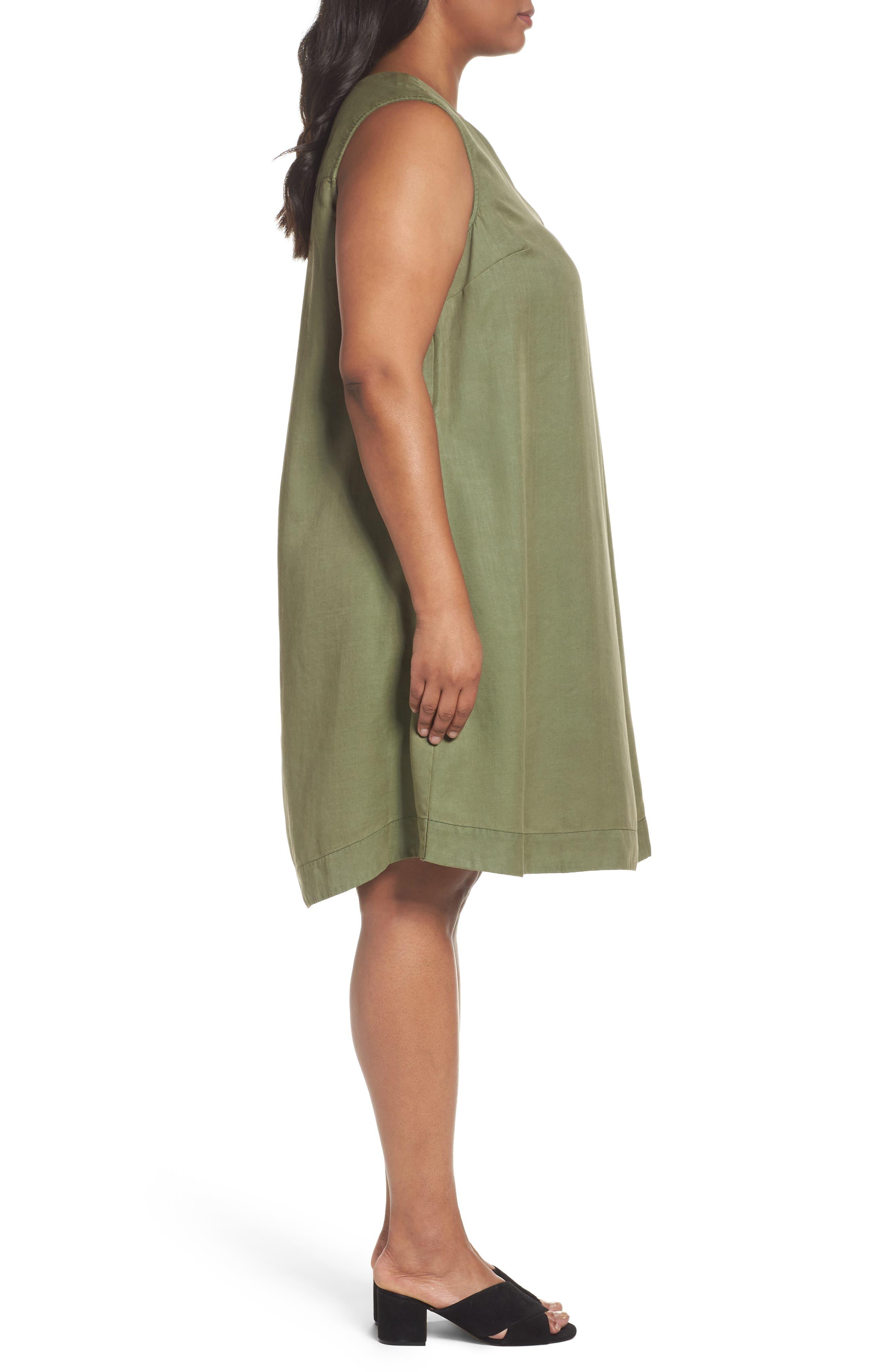 Alternate Image 3  - Foxcroft Skyler Twill A-Line Dress (Plus Size)