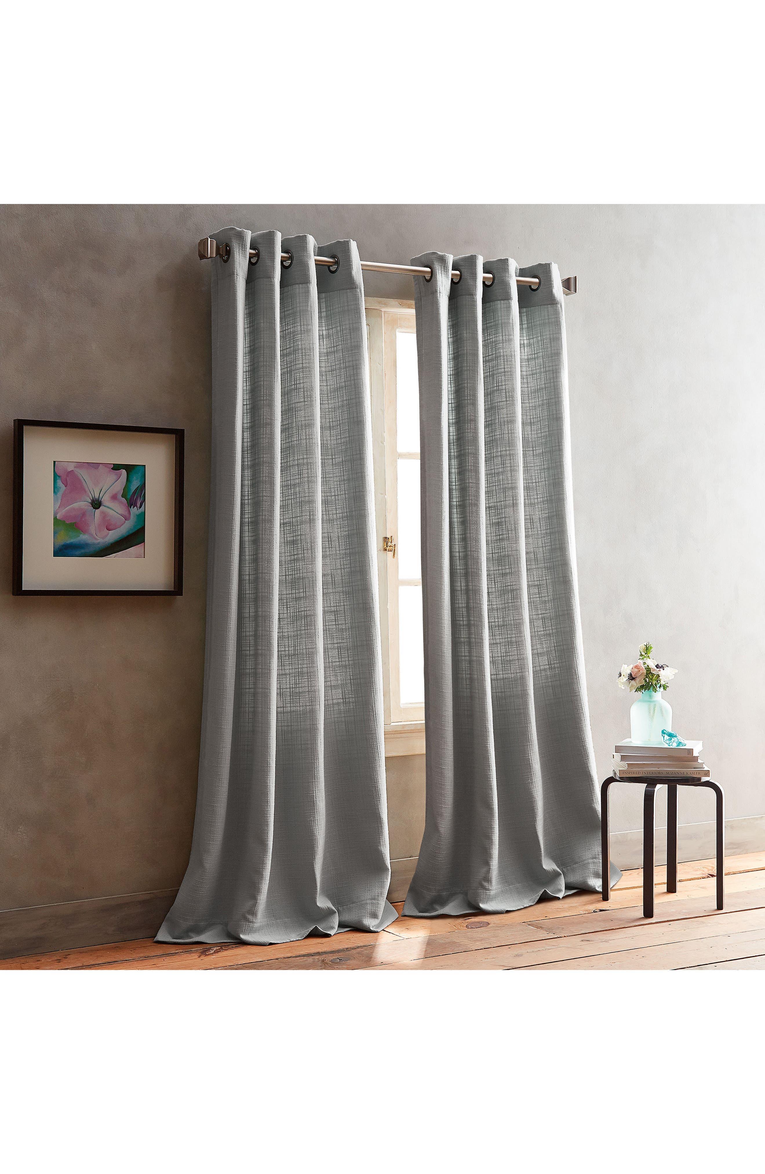 Main Image - DKNY Bouclé Plaid Set of 2 Window Panels