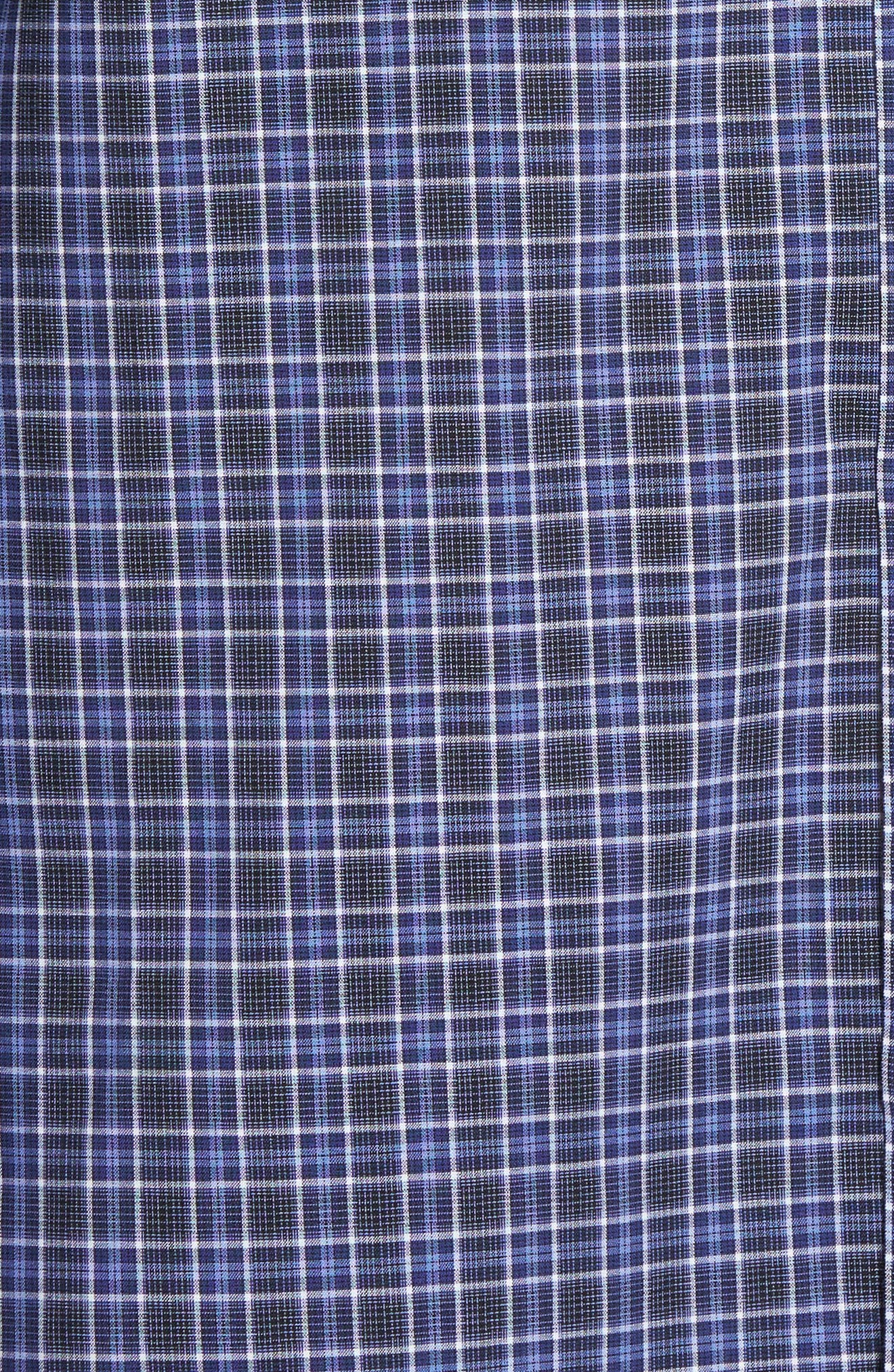 Barnum Slim Fit Check Sport Shirt,                             Alternate thumbnail 5, color,                             Blue