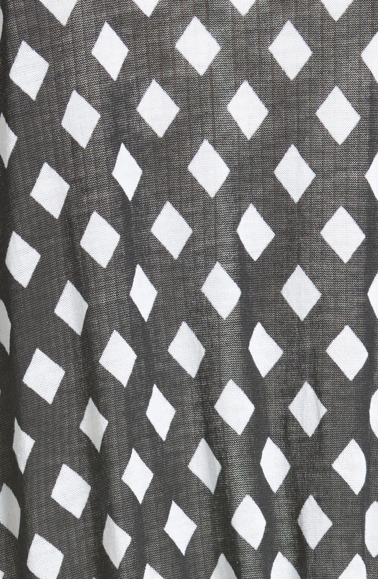 Michaela Cardigan,                             Alternate thumbnail 6, color,                             White/ Black