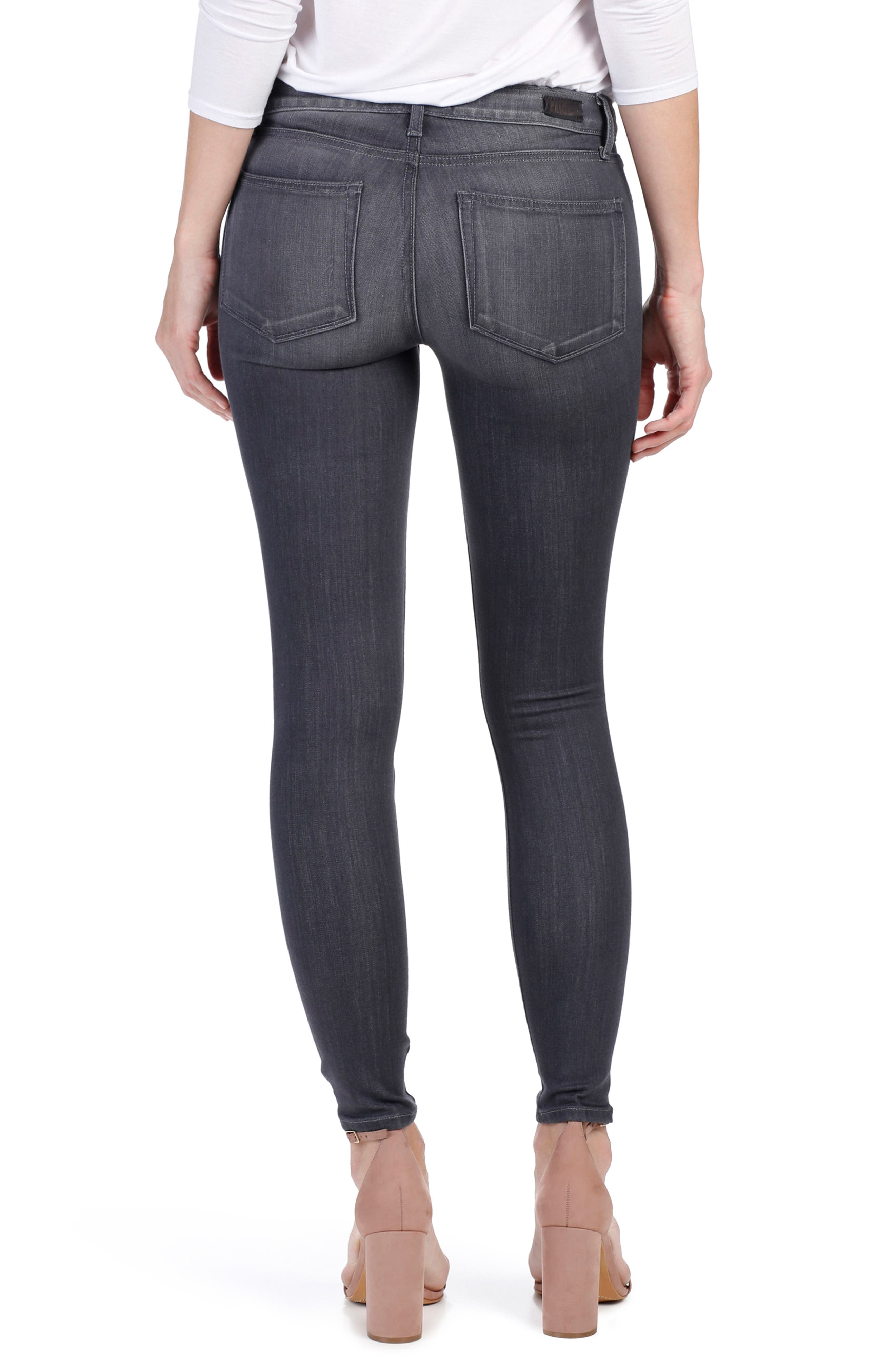 Alternate Image 3  - PAIGE Transcend - Verdugo Ankle Skinny Jeans (Summit Grey)