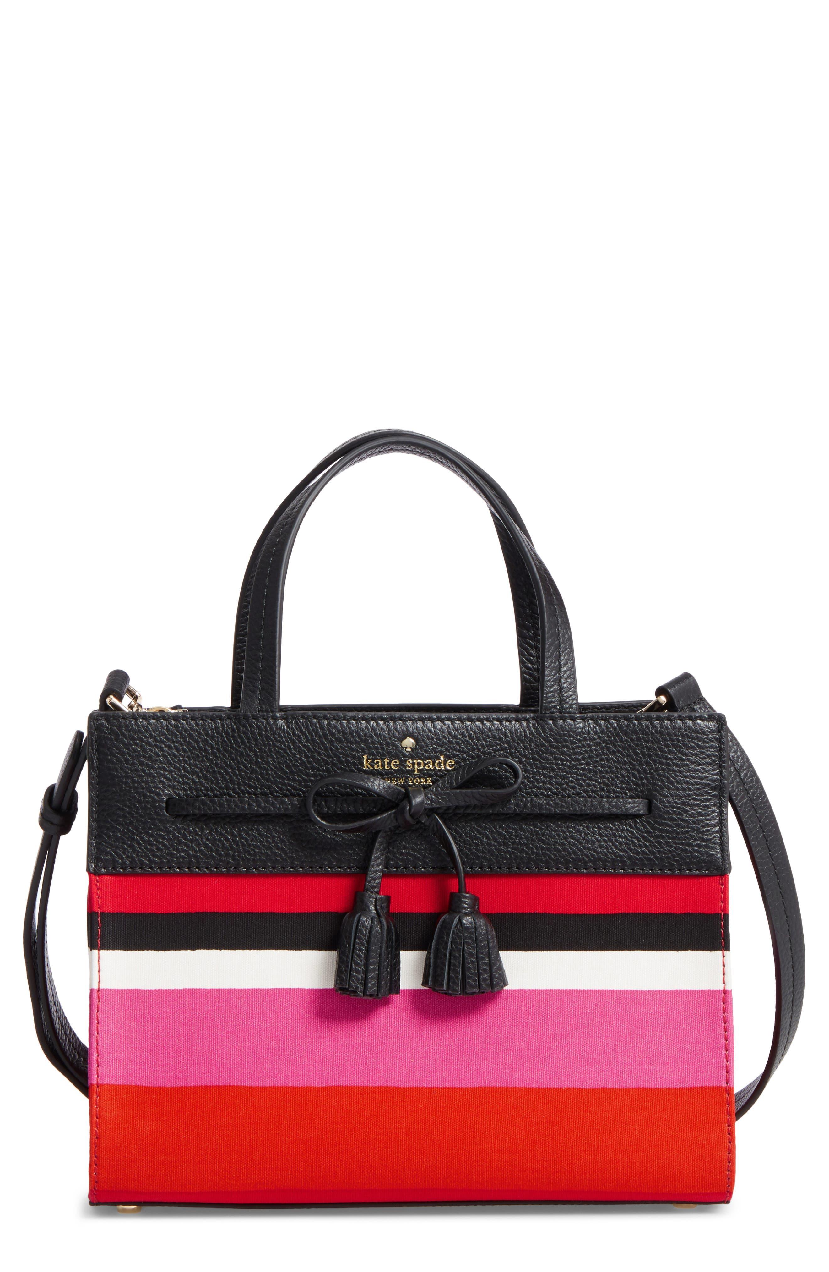 KATE SPADE NEW YORK hayes street stripe isobel satchel