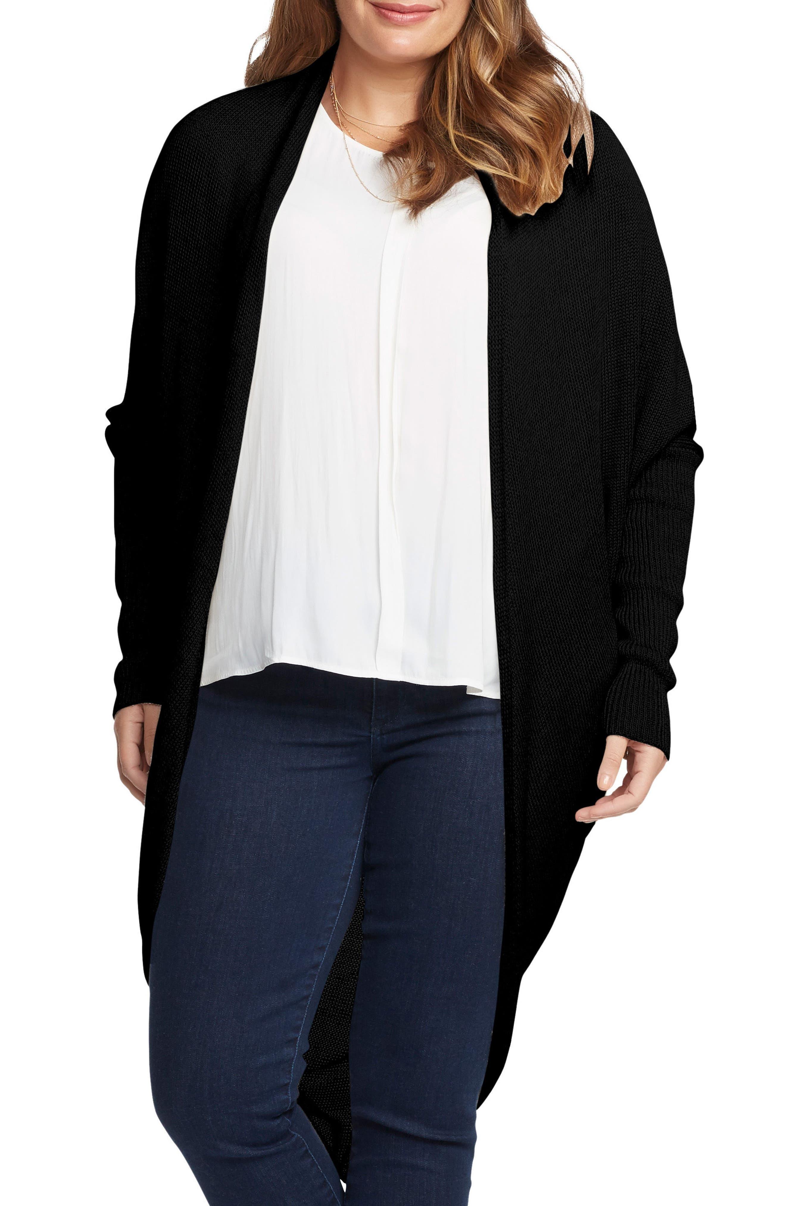 Main Image - Tart Darla Linen Blend Open Cardigan (Plus Size)