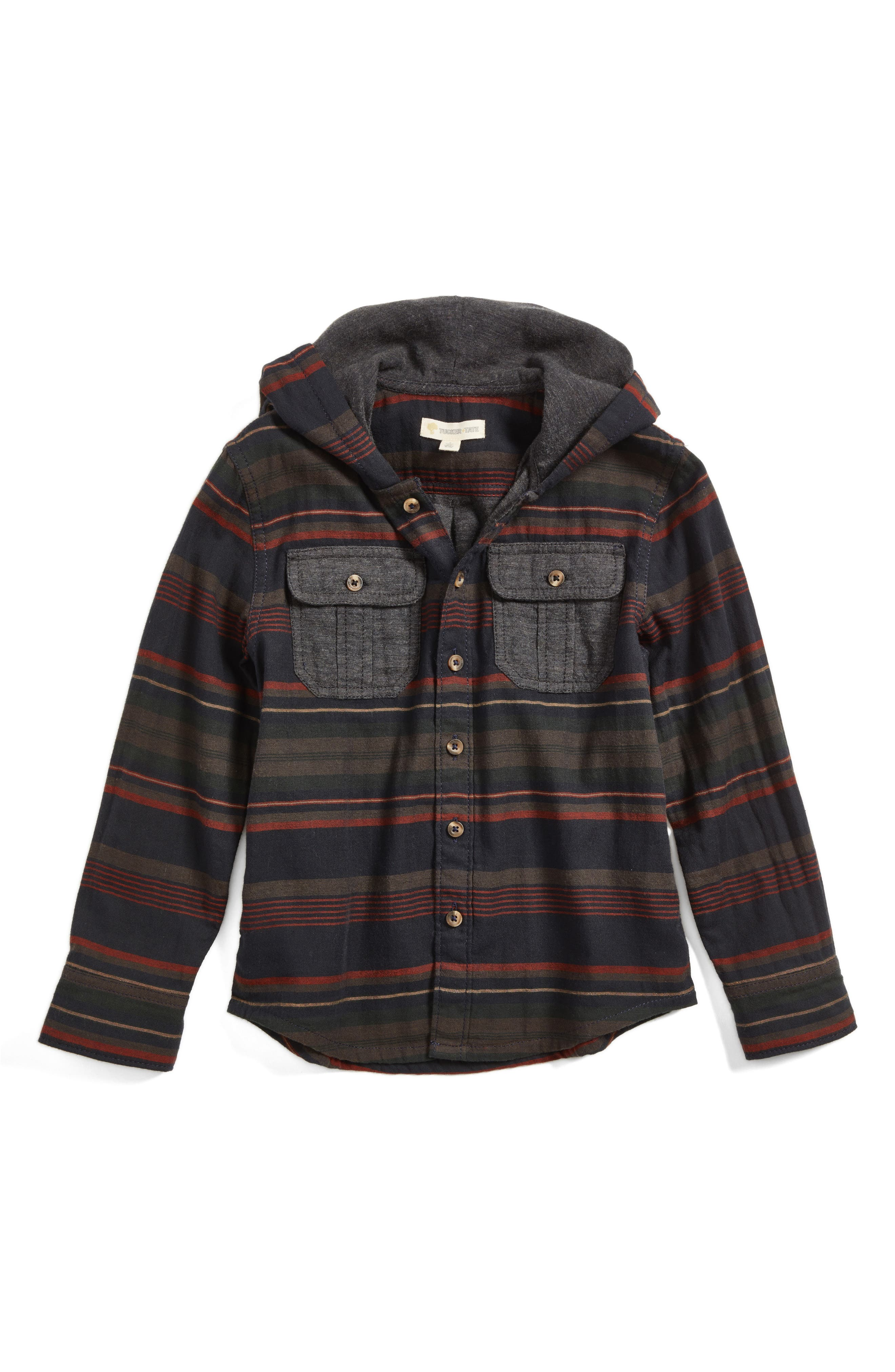 Tucker + Tate Woven Hoodie (Toddler Boys & Little Boys)