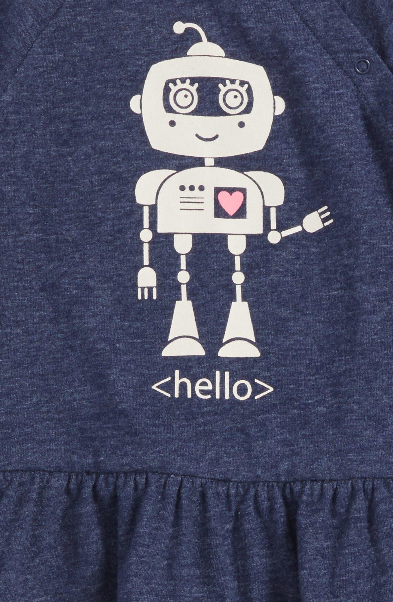 Alternate Image 3  - Tucker + Tate Robot Graphic Peplum Tee (Baby Girls)