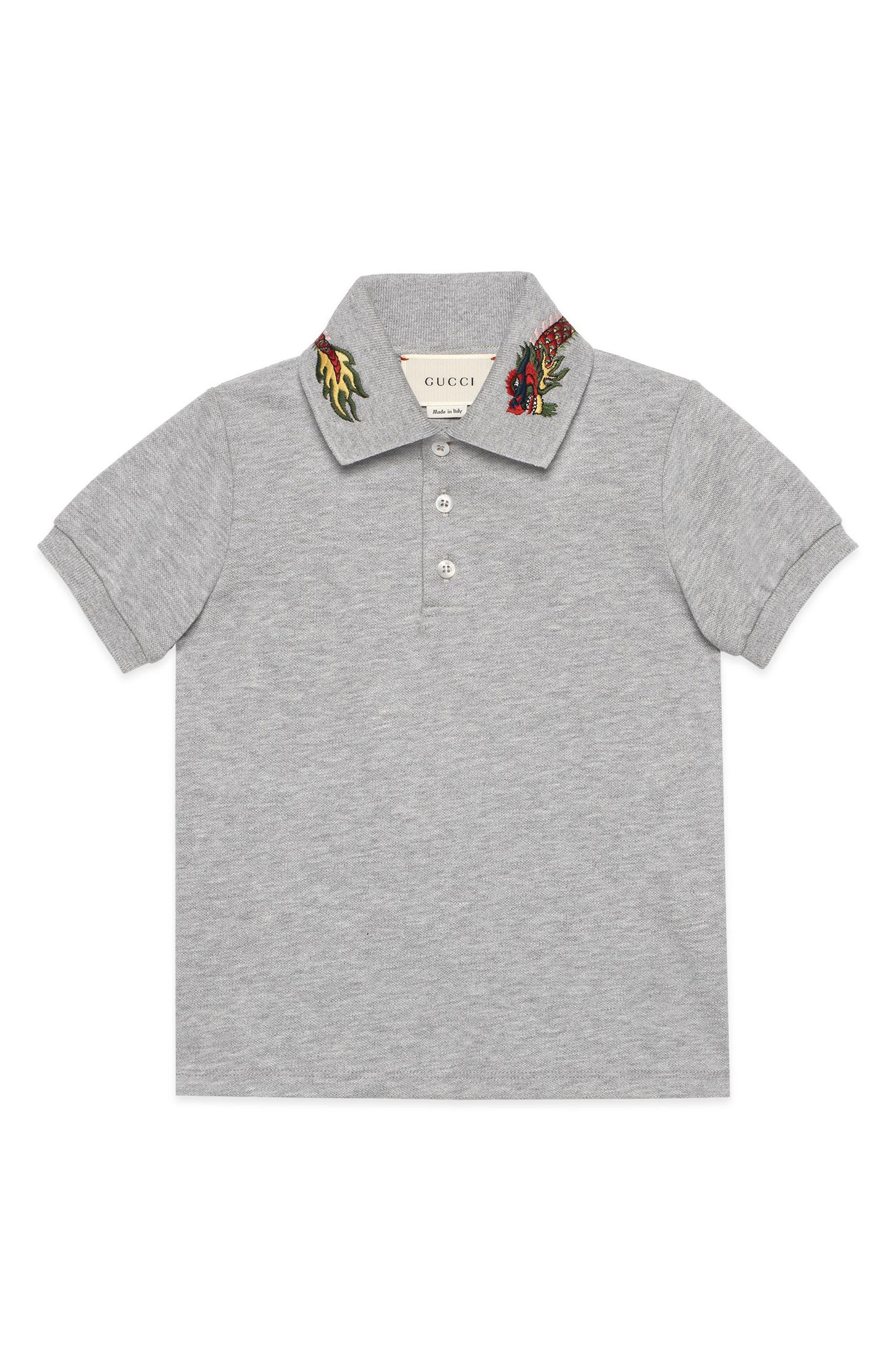 Main Image - Gucci Embroidered Collar Polo (Little Boys & Big Boys)