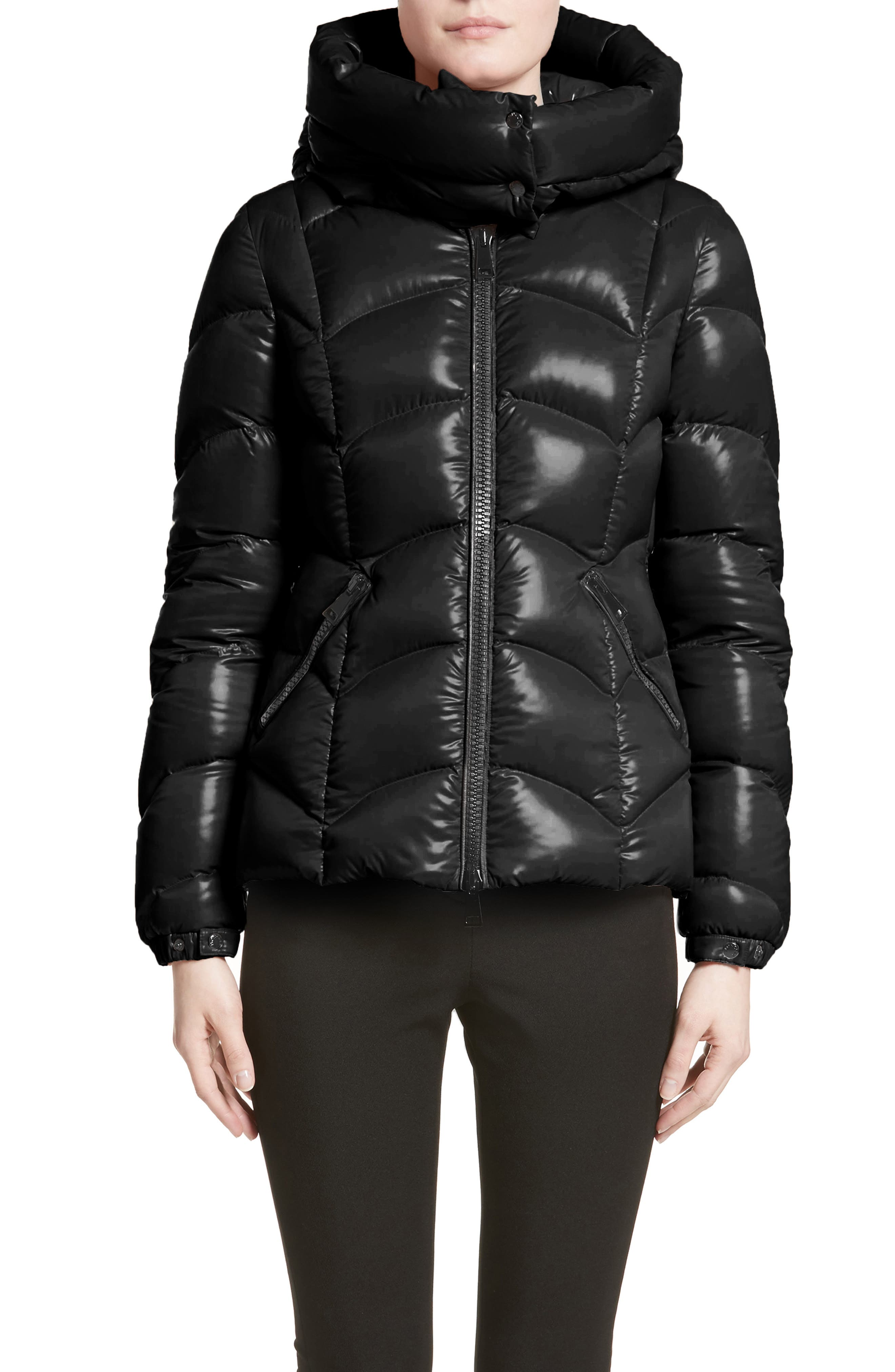 moncler black long jacket