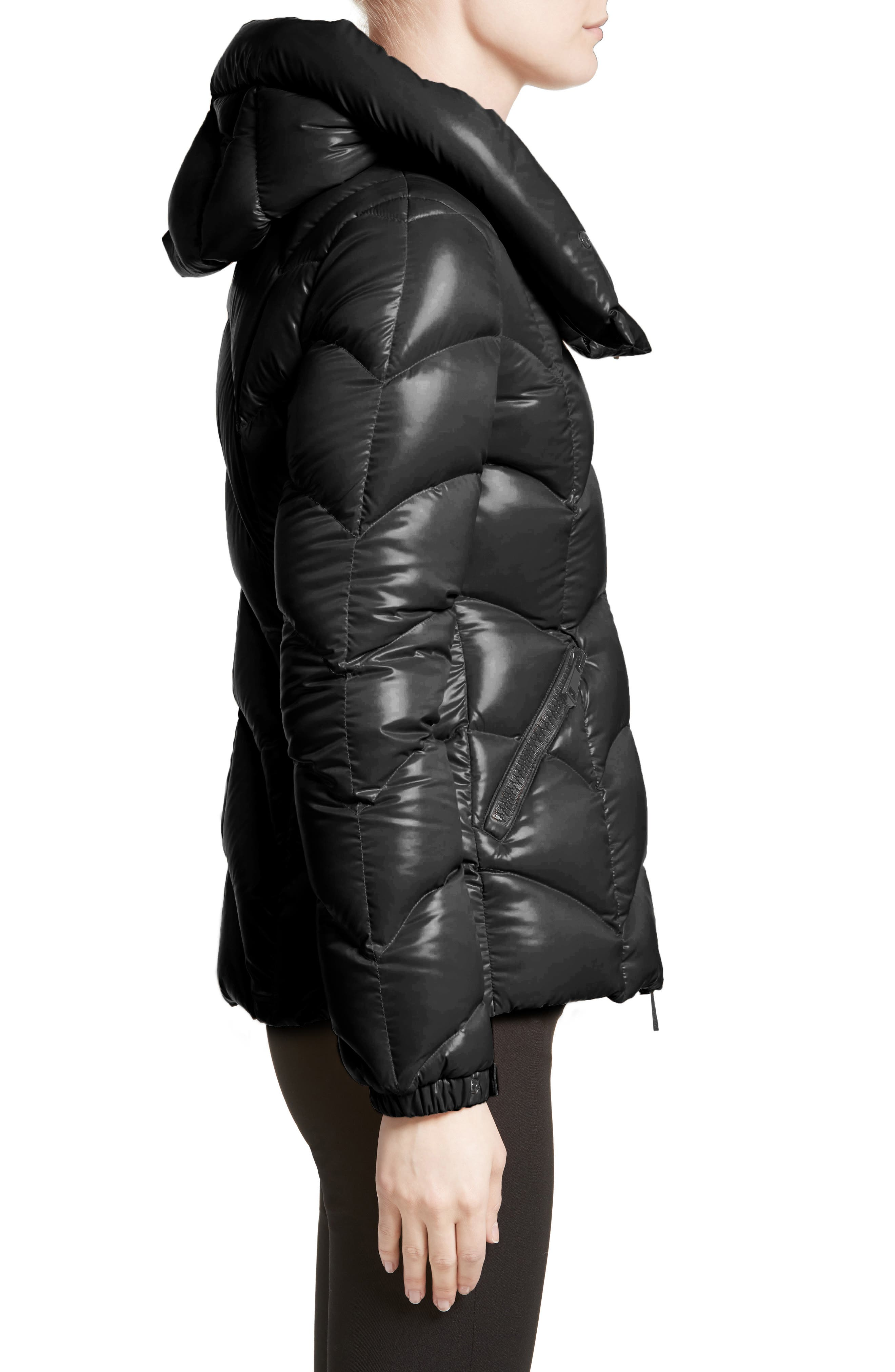 Akebia Quilted Down Jacket,                             Alternate thumbnail 3, color,                             Black