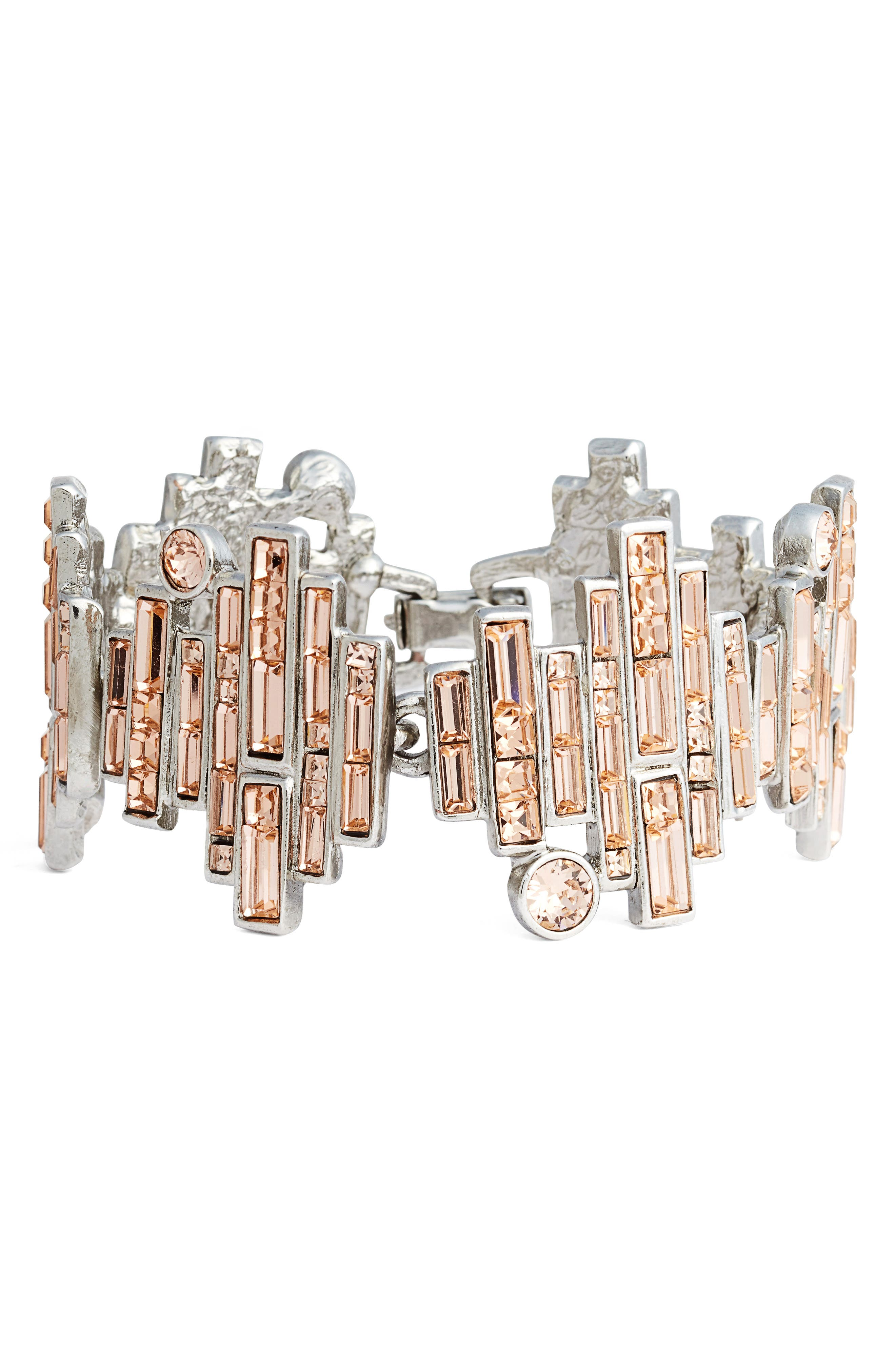 Alternate Image 1 Selected - Oscar de la Renta Wide Line Bracelet