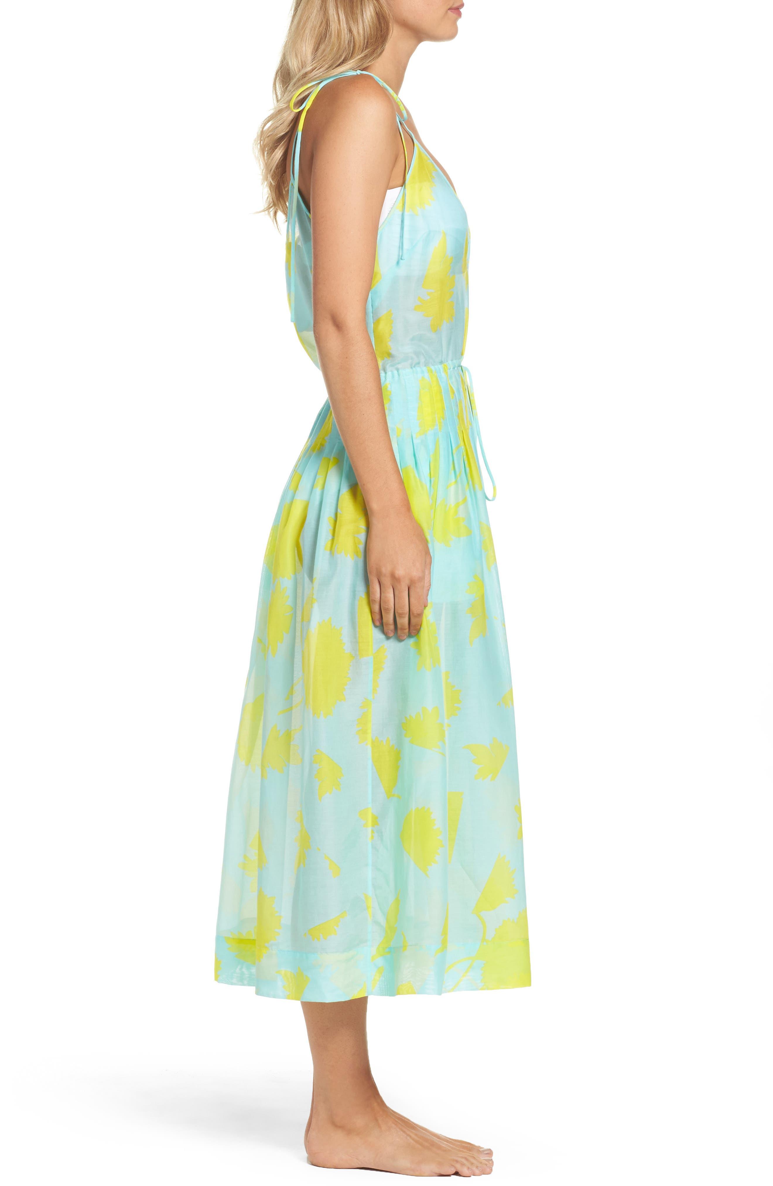 Cover-Up Midi Dress,                             Alternate thumbnail 3, color,                             Cardan Lr