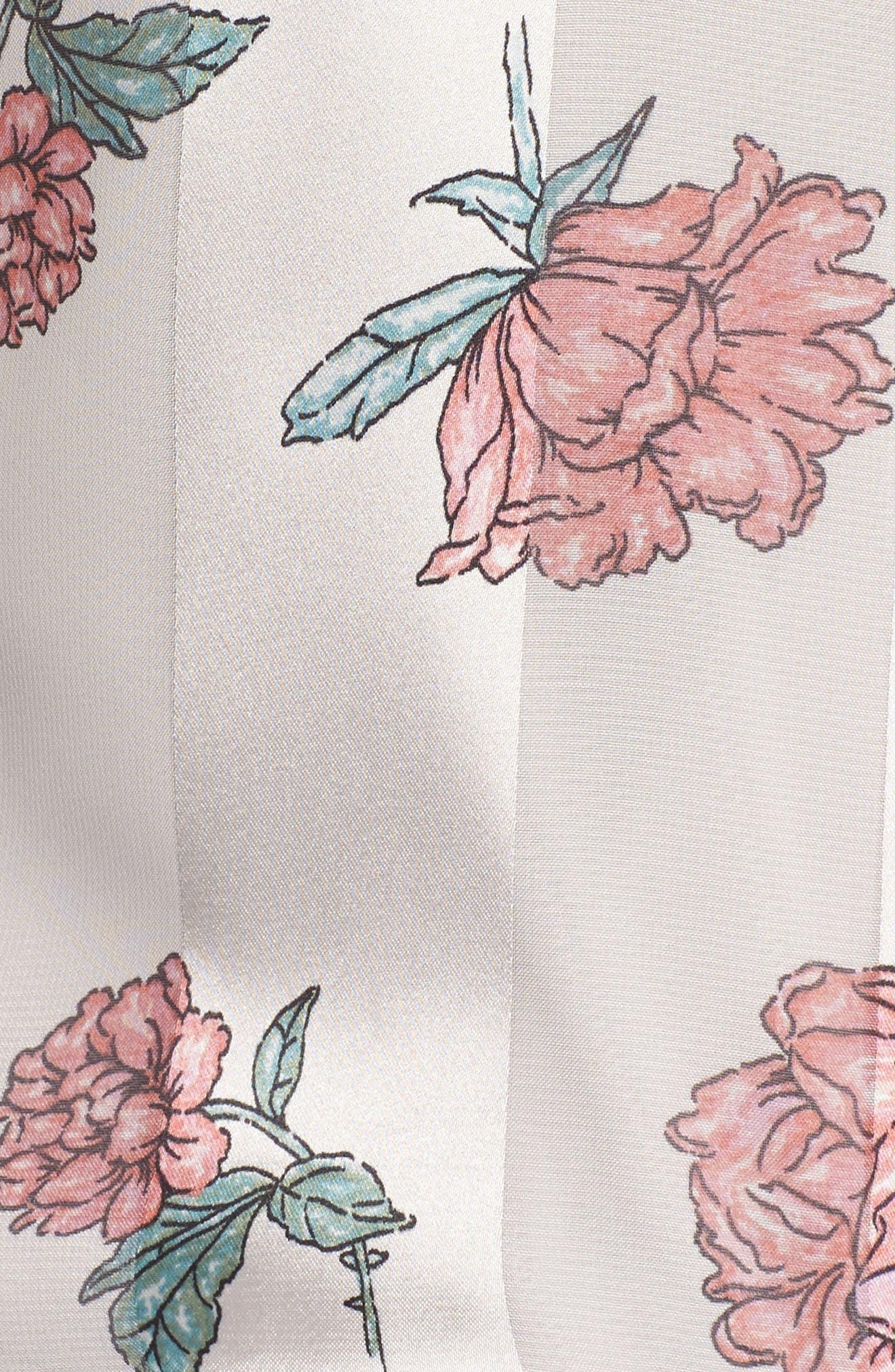 Layla Bodysuit,                             Alternate thumbnail 5, color,                             Garden Floral