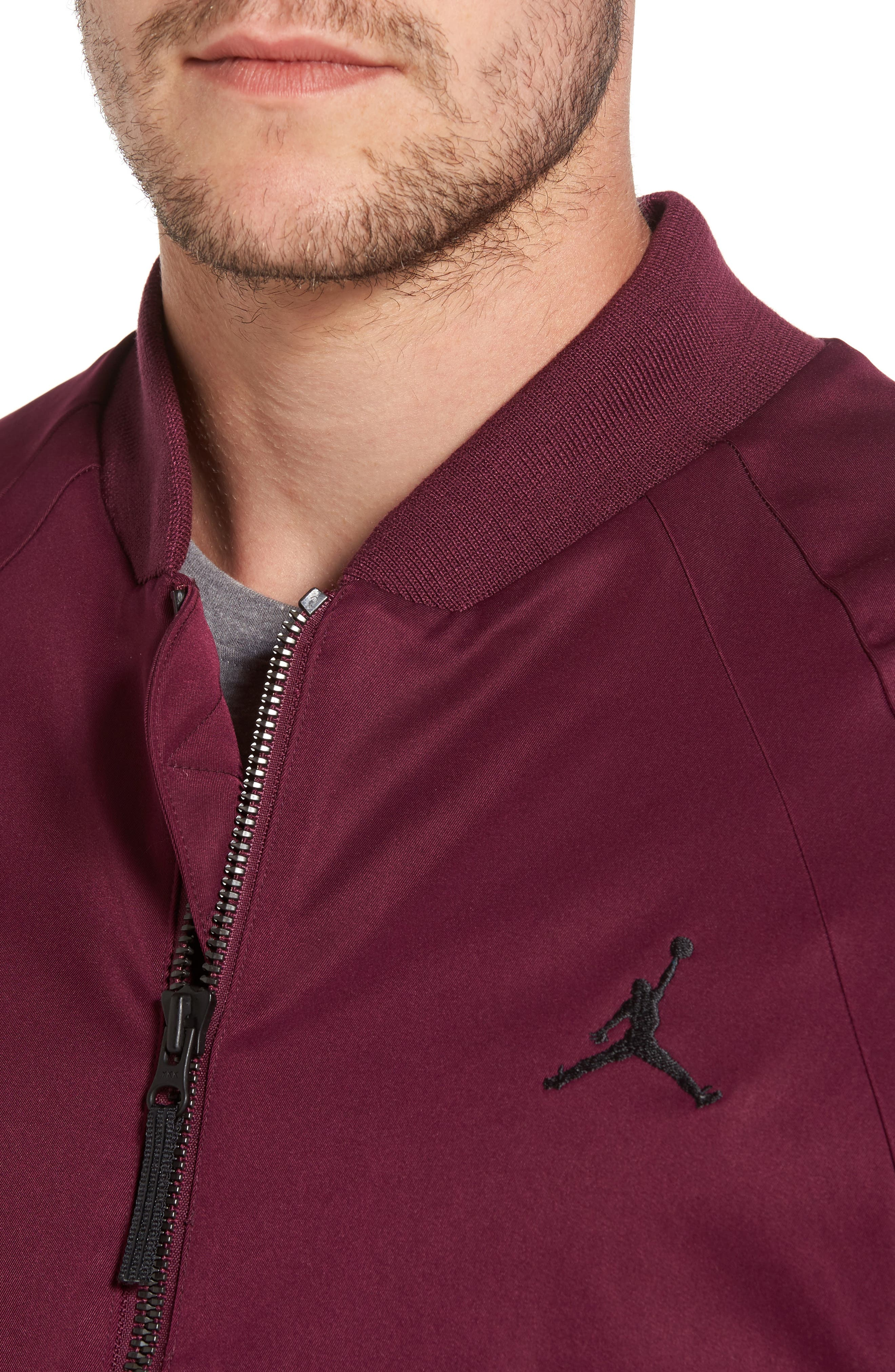 Sportswear Wings MA-1 Bomber Jacket,                             Alternate thumbnail 4, color,                             Bordeaux/ Black