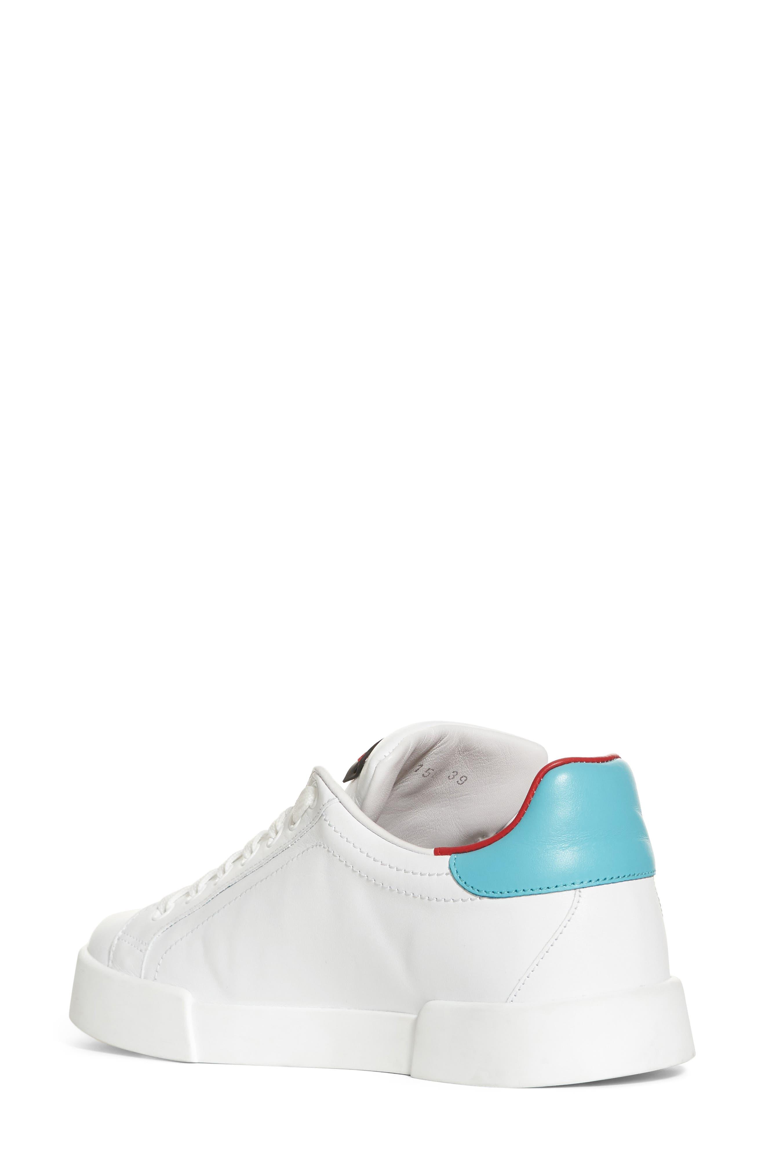 Heart Sneaker,                             Alternate thumbnail 2, color,                             White/ Blue