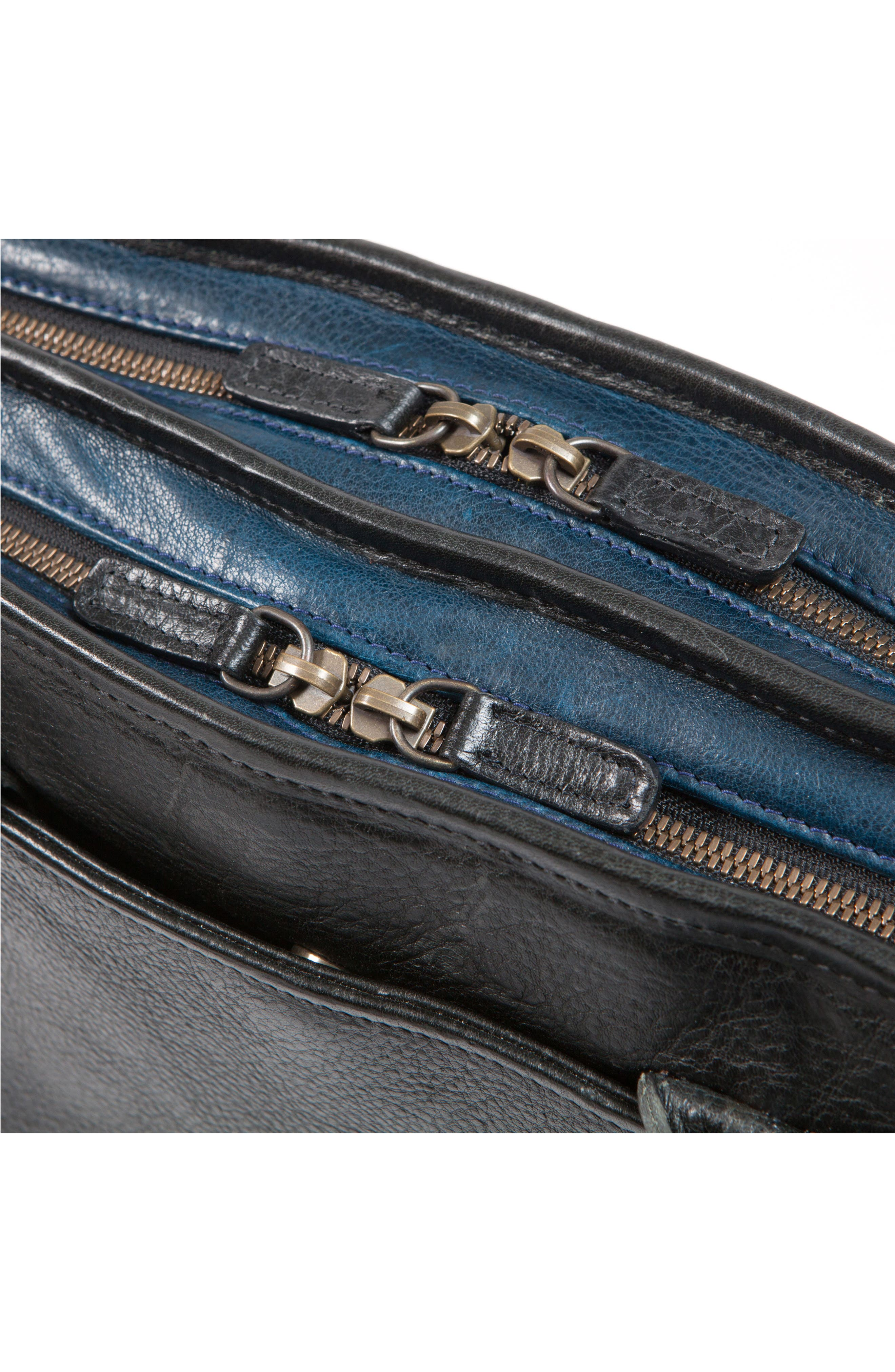 Miller Leather Briefcase,                             Alternate thumbnail 8, color,                             Titan Milled Navy And Gunmetal