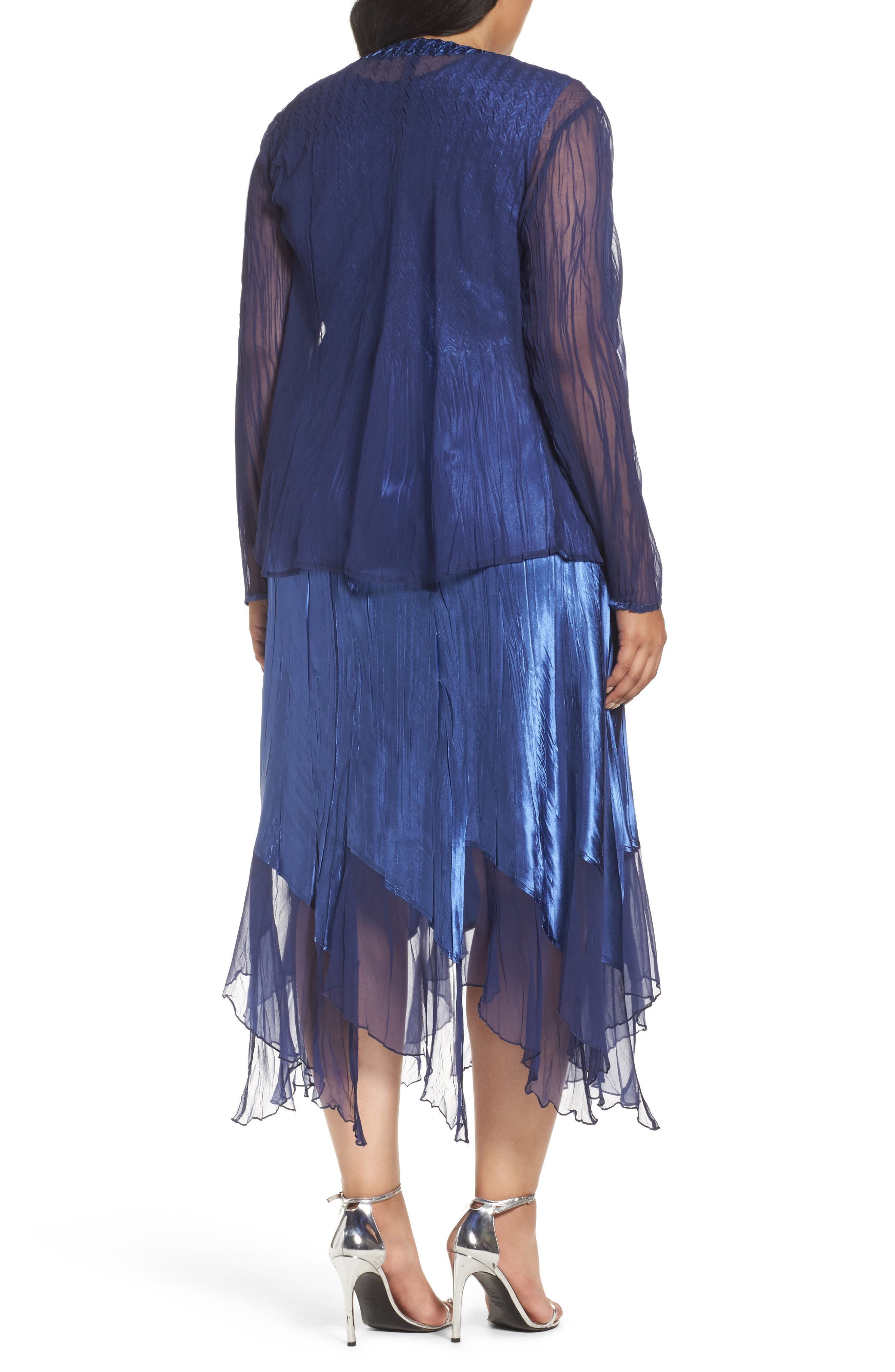 Alternate Image 3  - Komarov Embellished A-Line Dress and Jacket (Plus Size)
