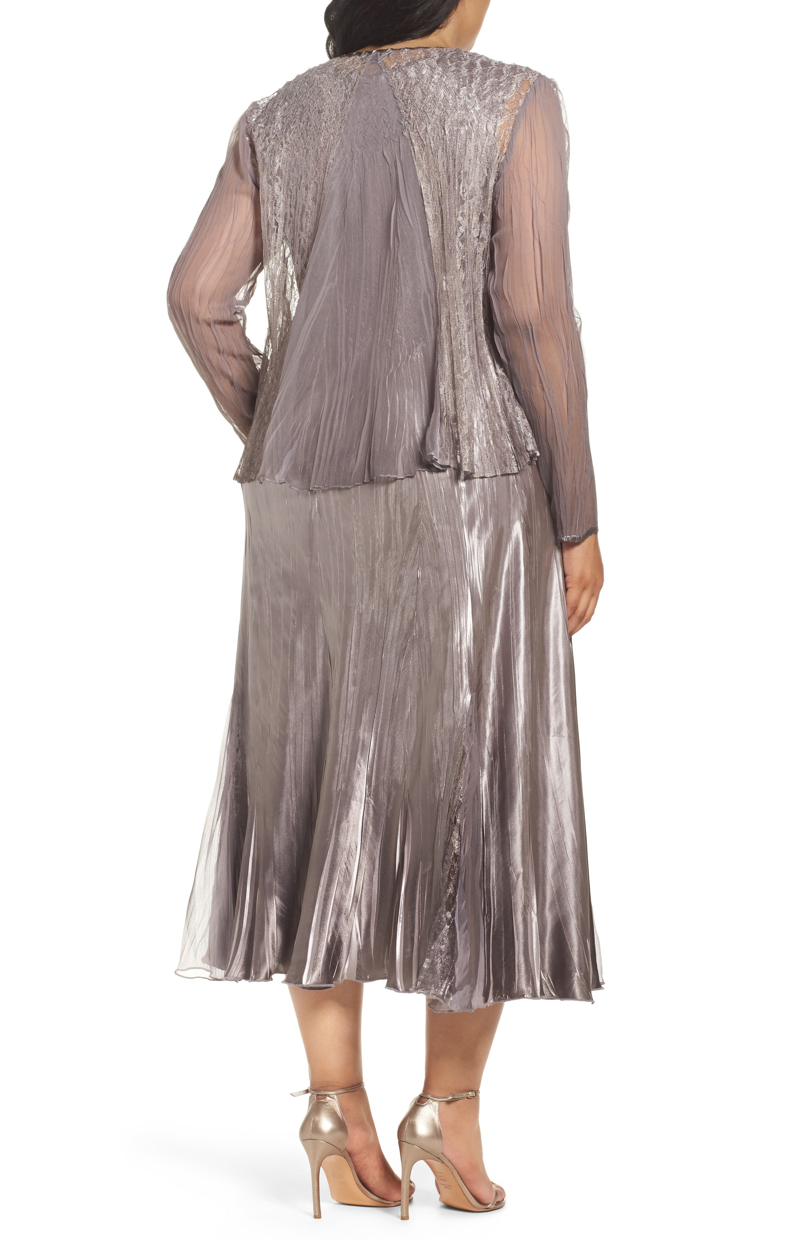 Alternate Image 3  - Komarov A-Line Midi Dress with Jacket (Plus Size)