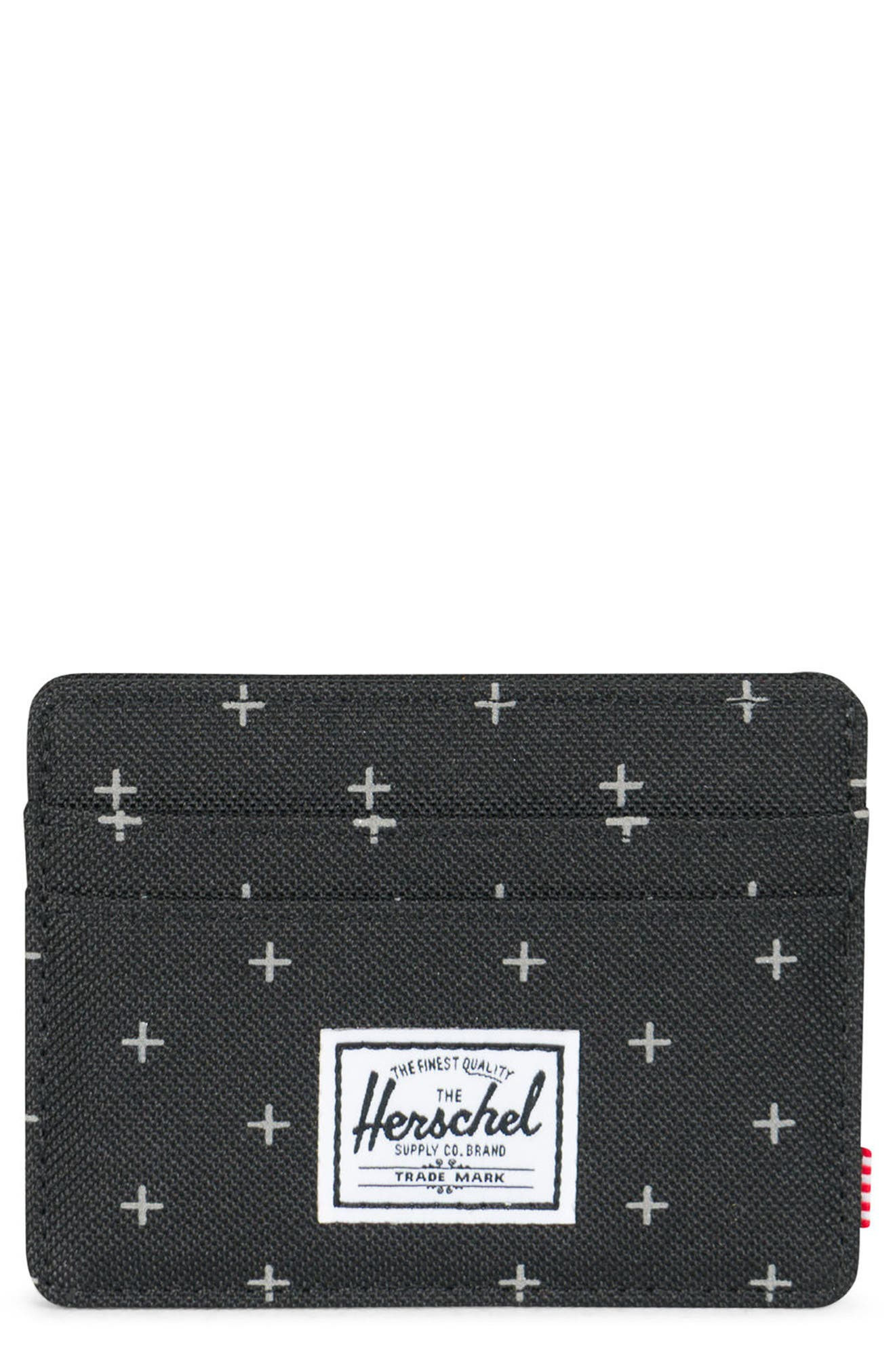 Charlie RFID Card Case,                             Main thumbnail 1, color,                             Black Gridlock