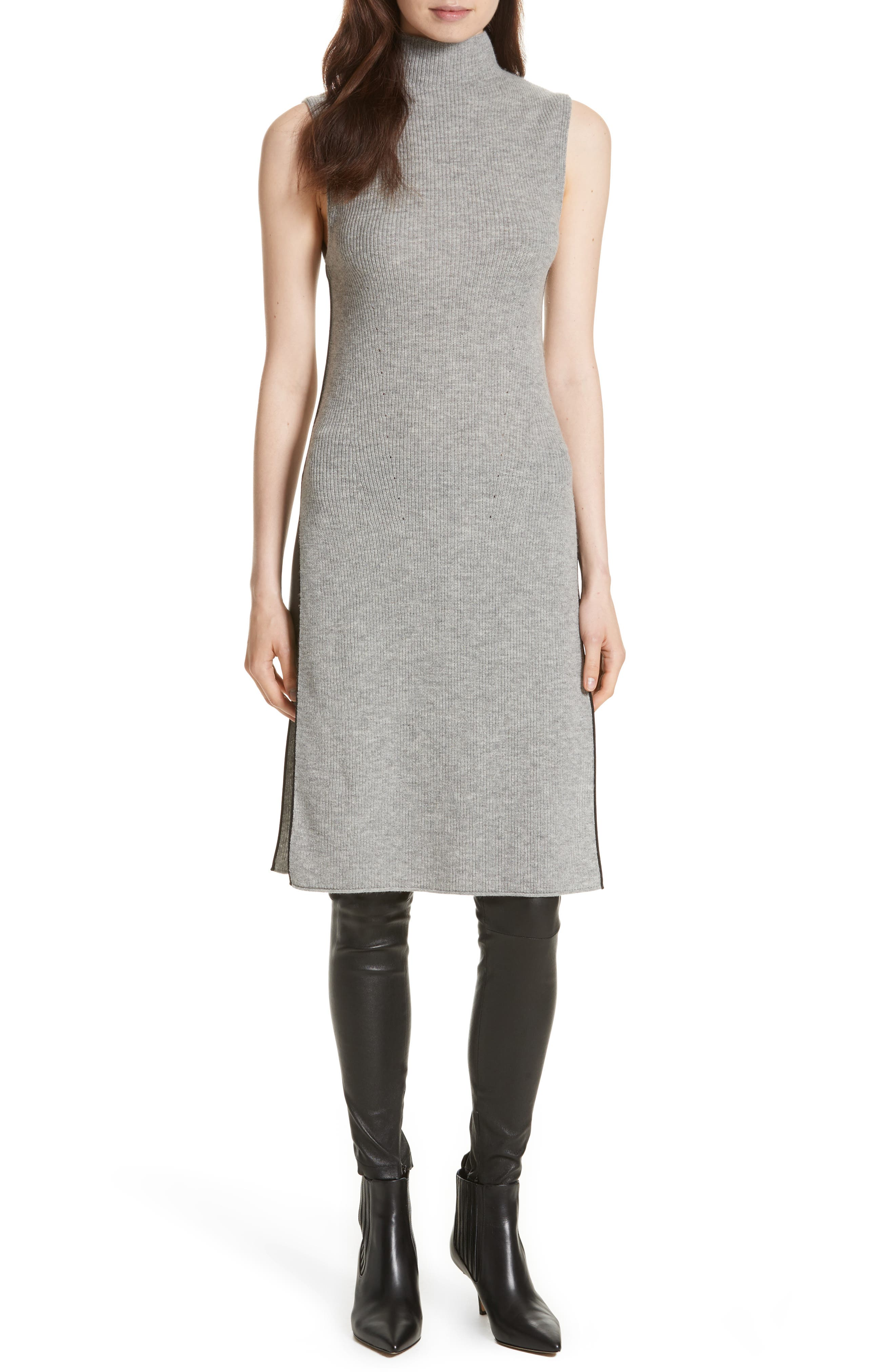Main Image - Alice + Olivia Stori Double Slit Sweater Dress
