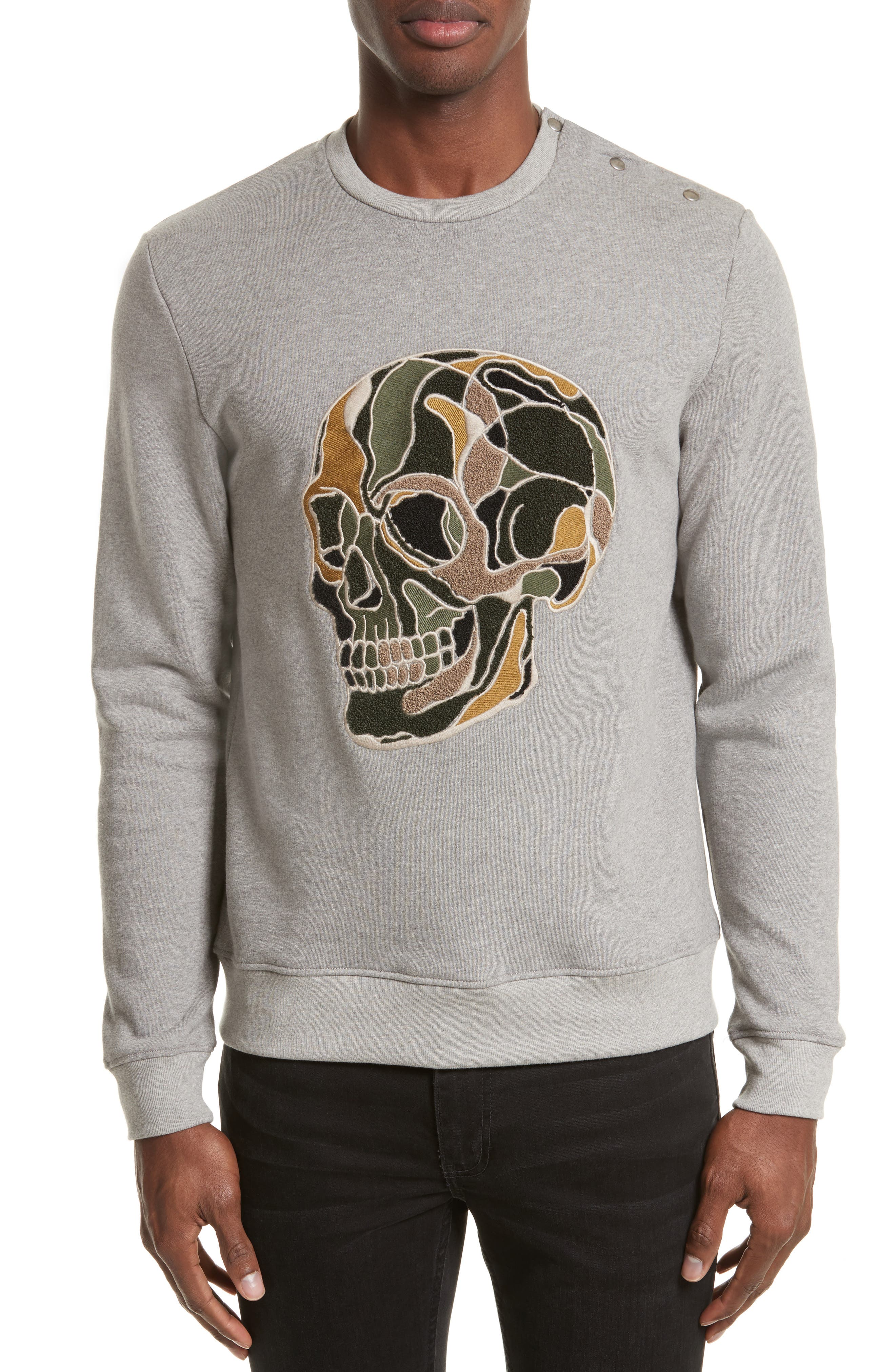 The Kooples Embroidered Skull Sweatshirt
