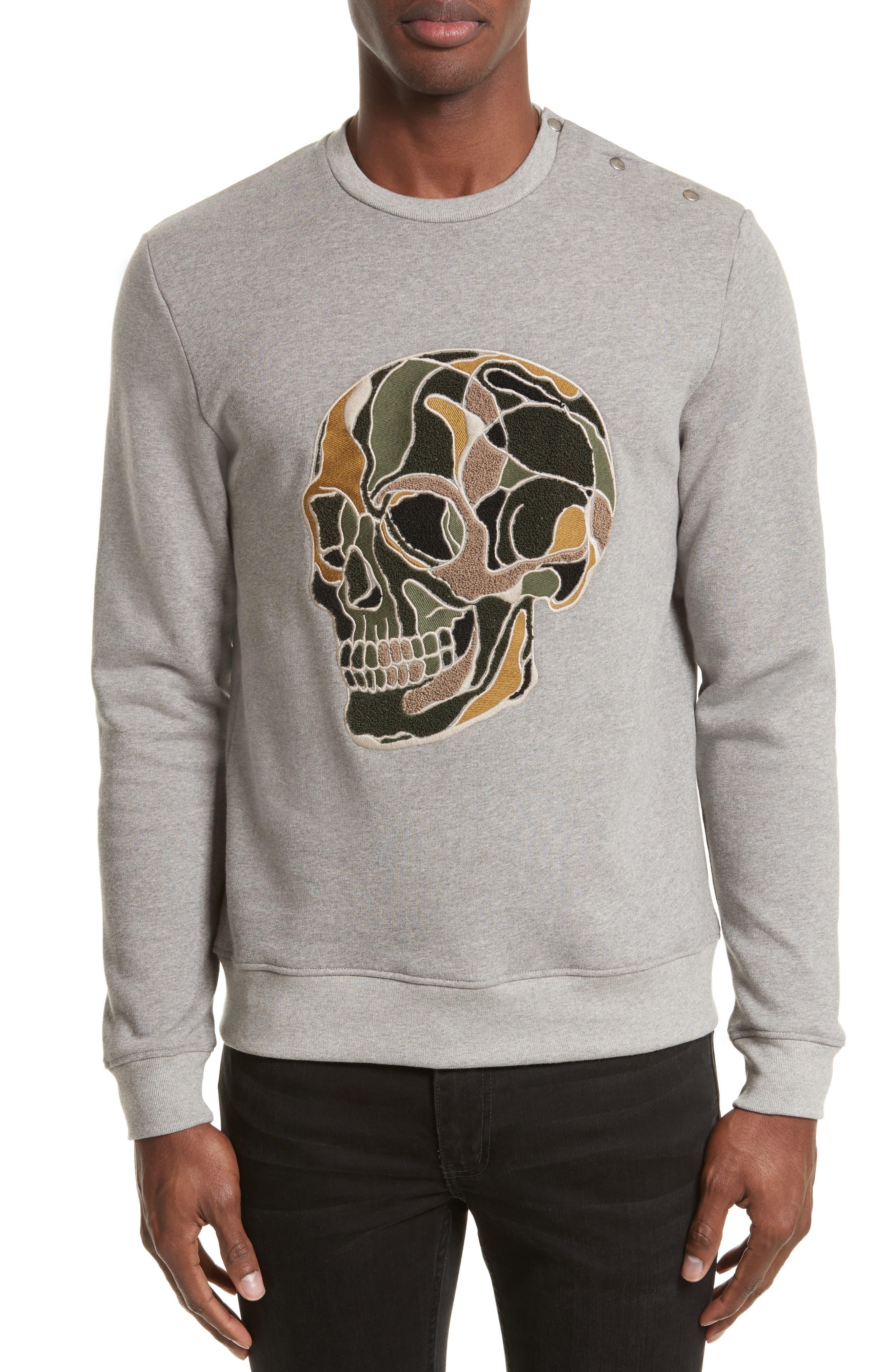 The Kooples Embroidered Skull Sweatshirt