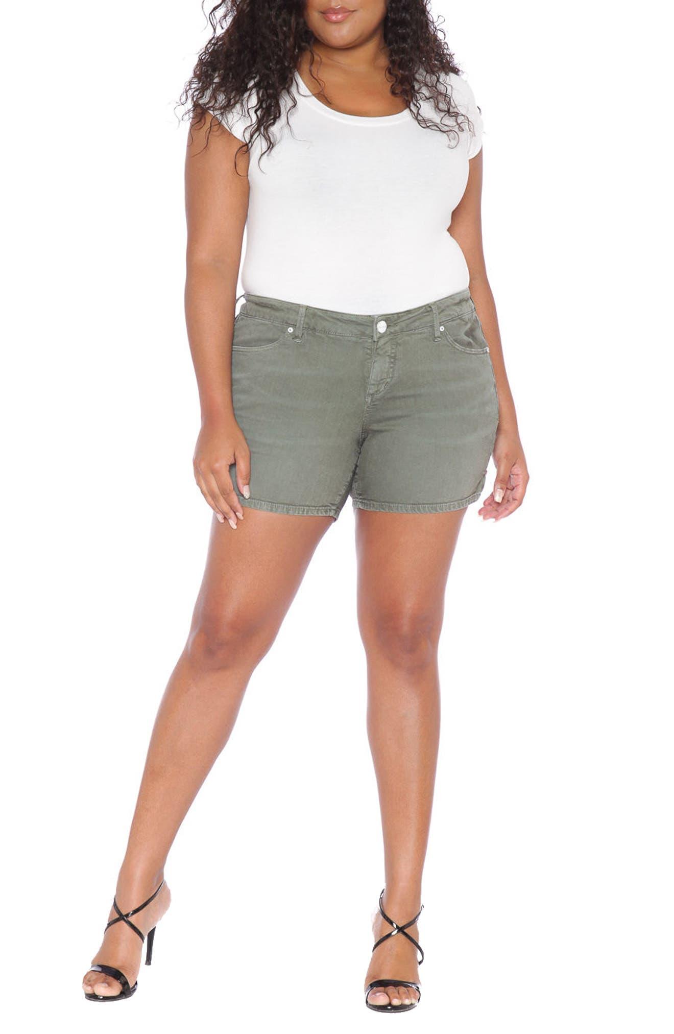 Alternate Image 2  - SLINK Jeans Stretch Twill Shorts (Plus Size)