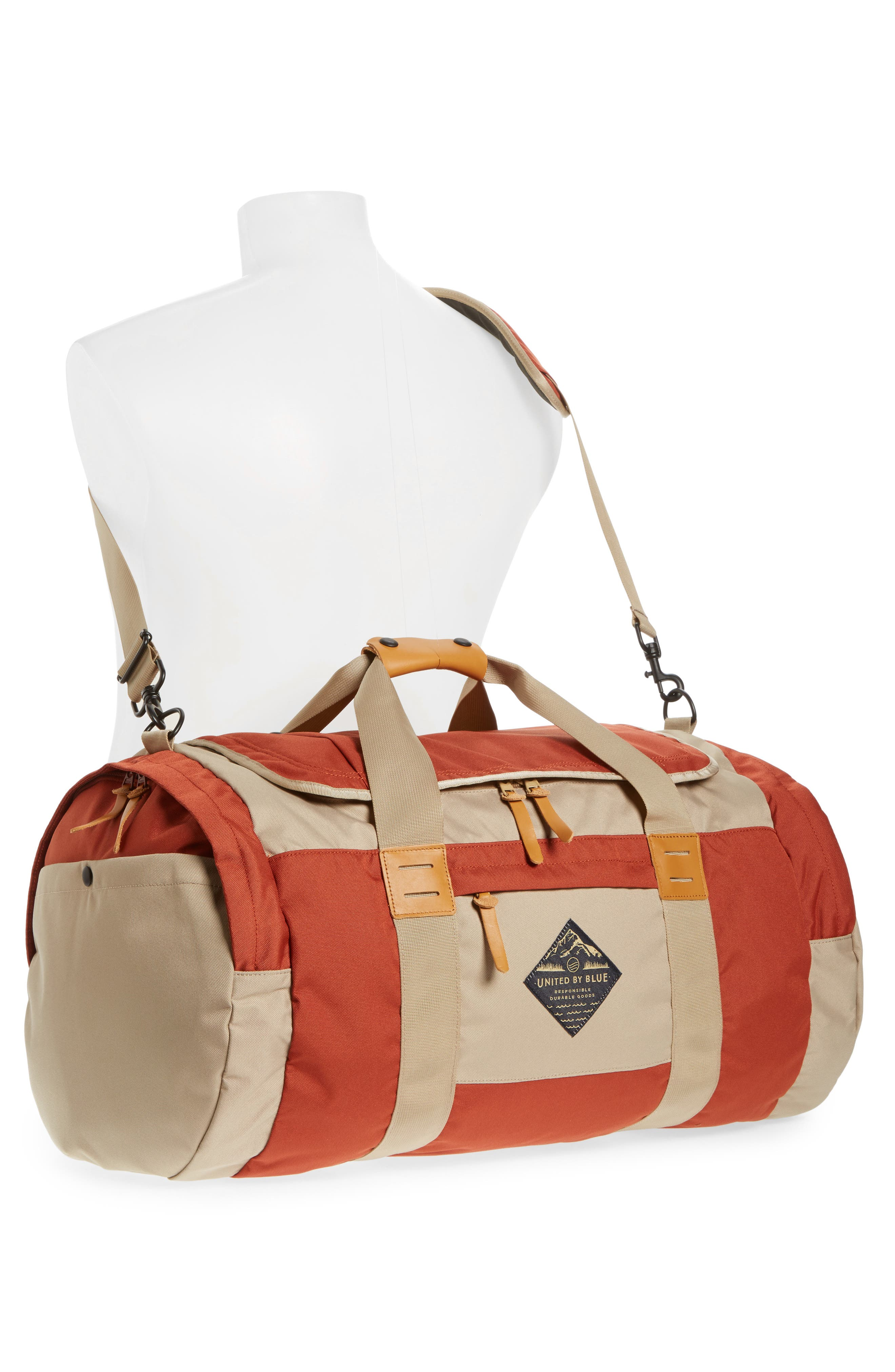 Arc Duffel Bag,                             Alternate thumbnail 2, color,                             Rust/ Tan