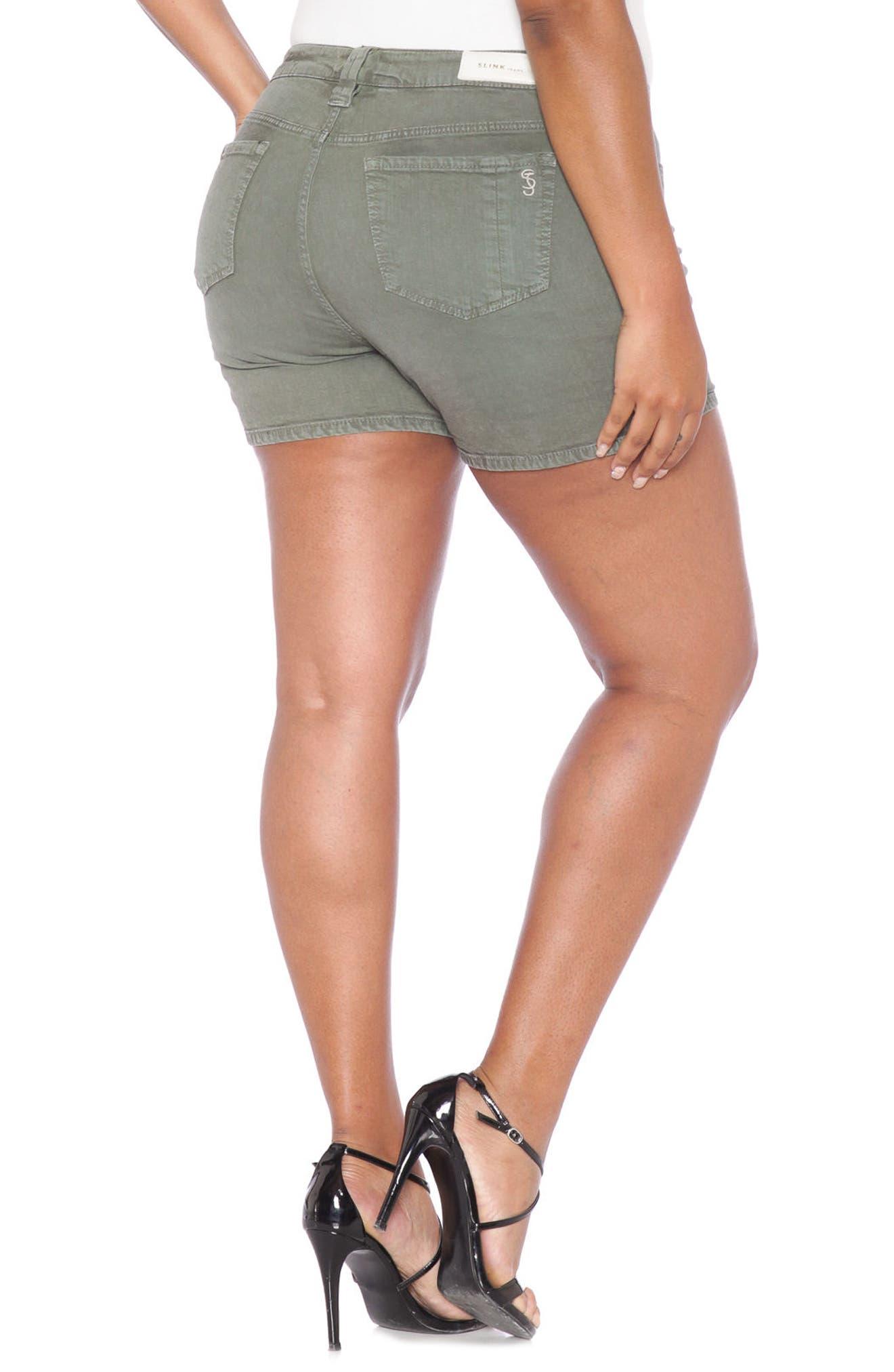 Alternate Image 3  - SLINK Jeans Stretch Twill Shorts (Plus Size)