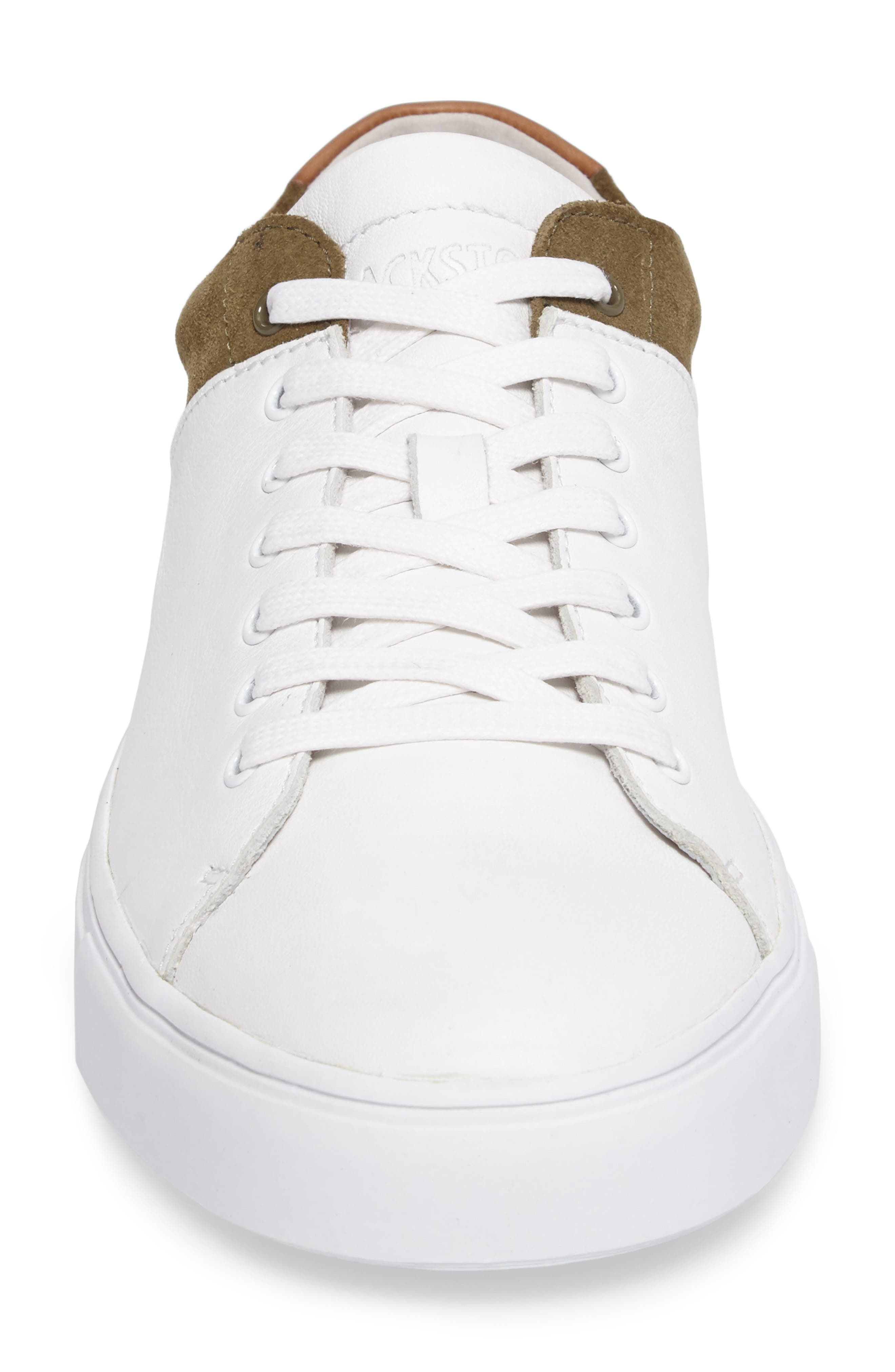 NM03 Two-Tone Sneaker,                             Alternate thumbnail 4, color,                             White/ Olive Leather