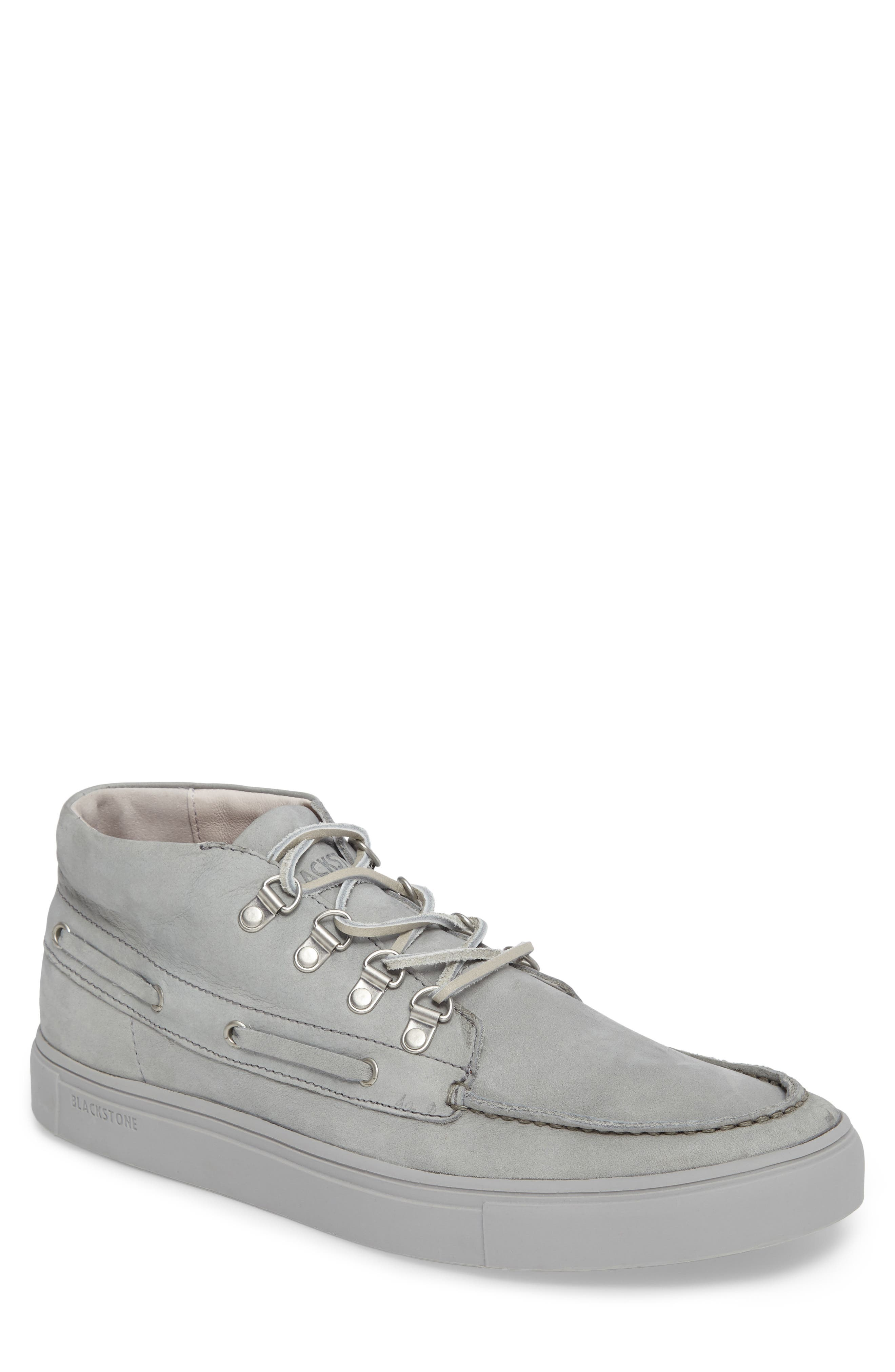 NM09 Mid Top Boat Sneaker,                         Main,                         color, Limestone Leather